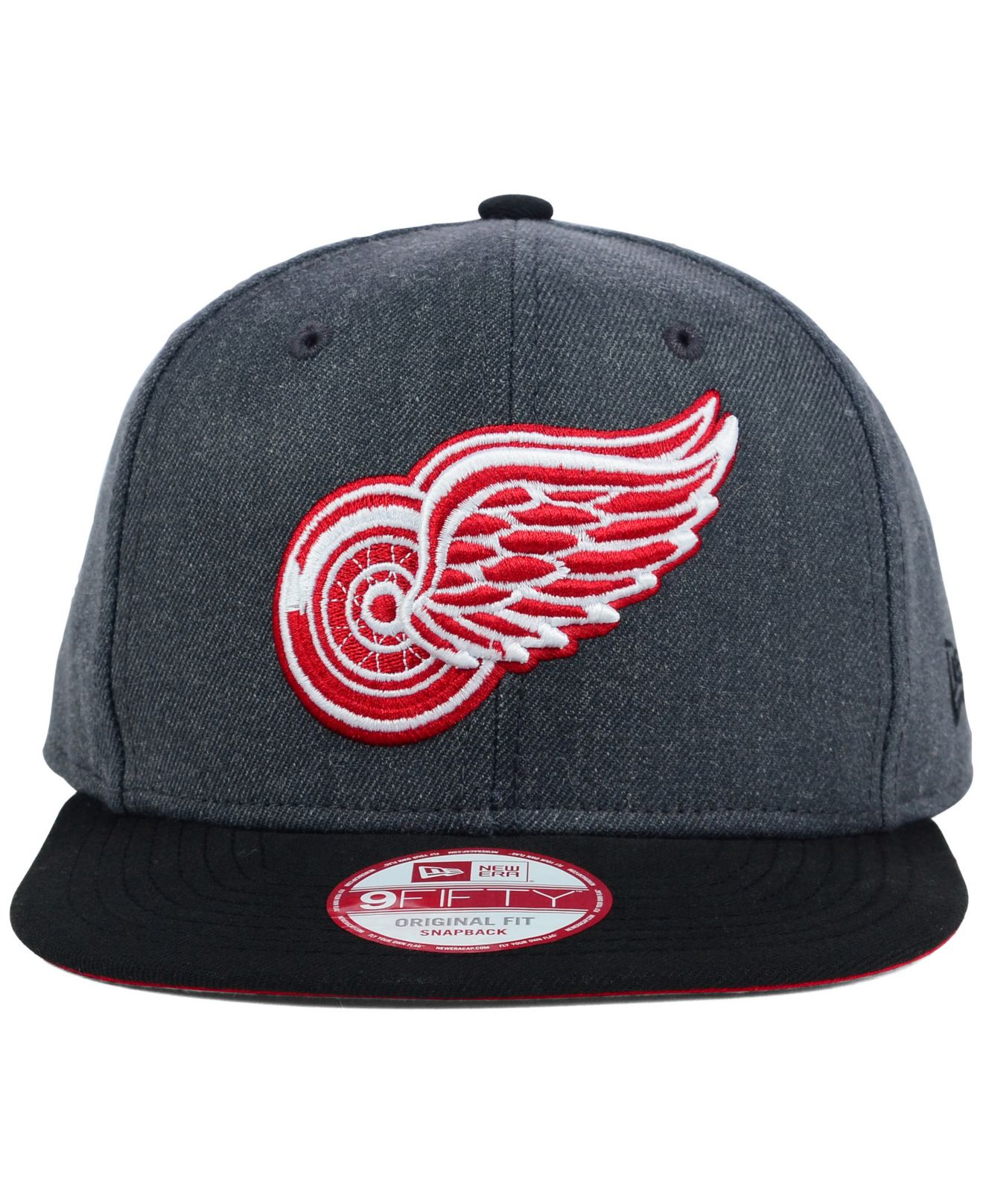 info for 0f9ba d66ad KTZ Detroit Red Wings 2 Tone Action 9Fifty Snapback Cap in Gray for ...