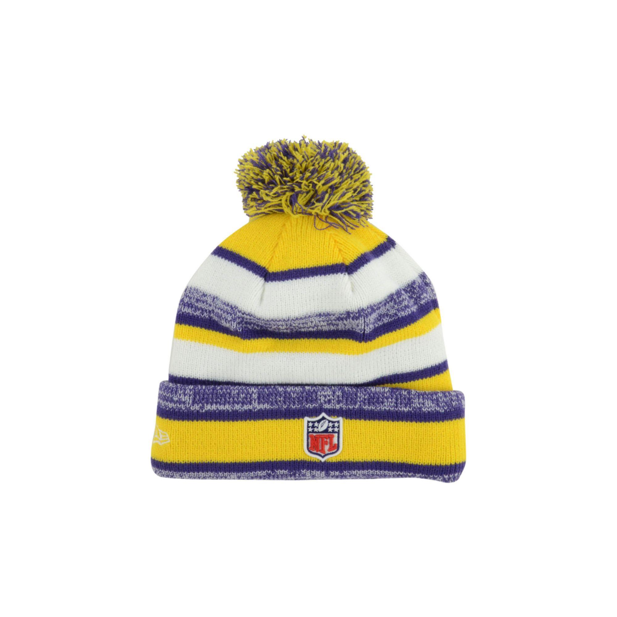 964964ea160 Ktz Minnesota Vikings Sport Knit Hat in Yellow for Men