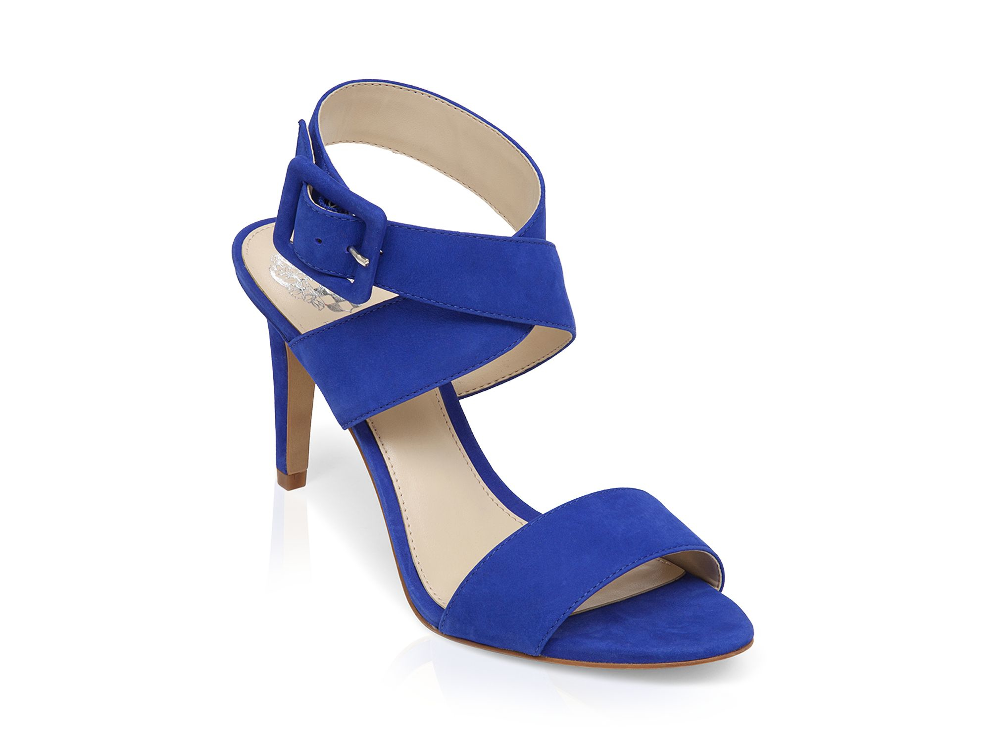 ec6930a6bac Lyst - Vince Camuto Open Toe Sandals - Casara High Heel in Blue