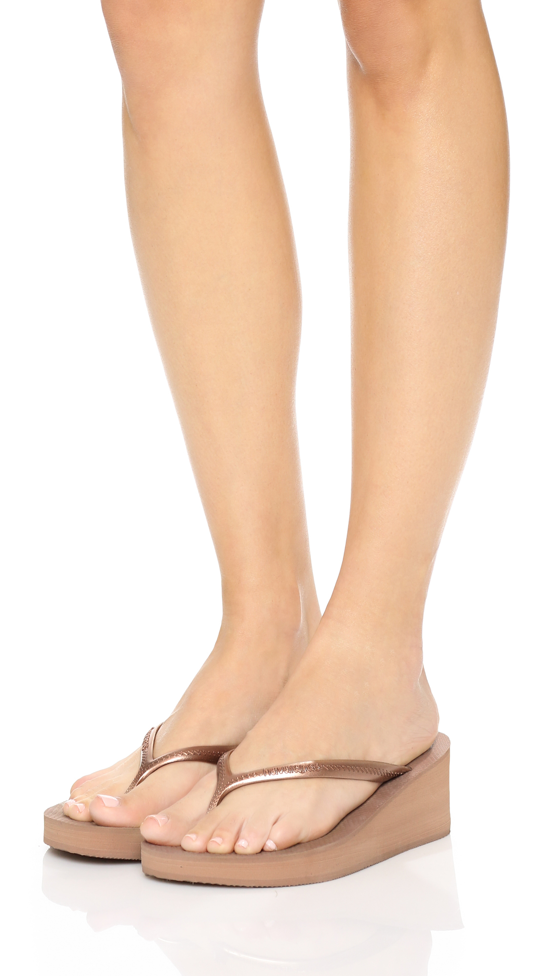 9121cdd6e536be Lyst - Havaianas High Fashion Wedge Flip Flops