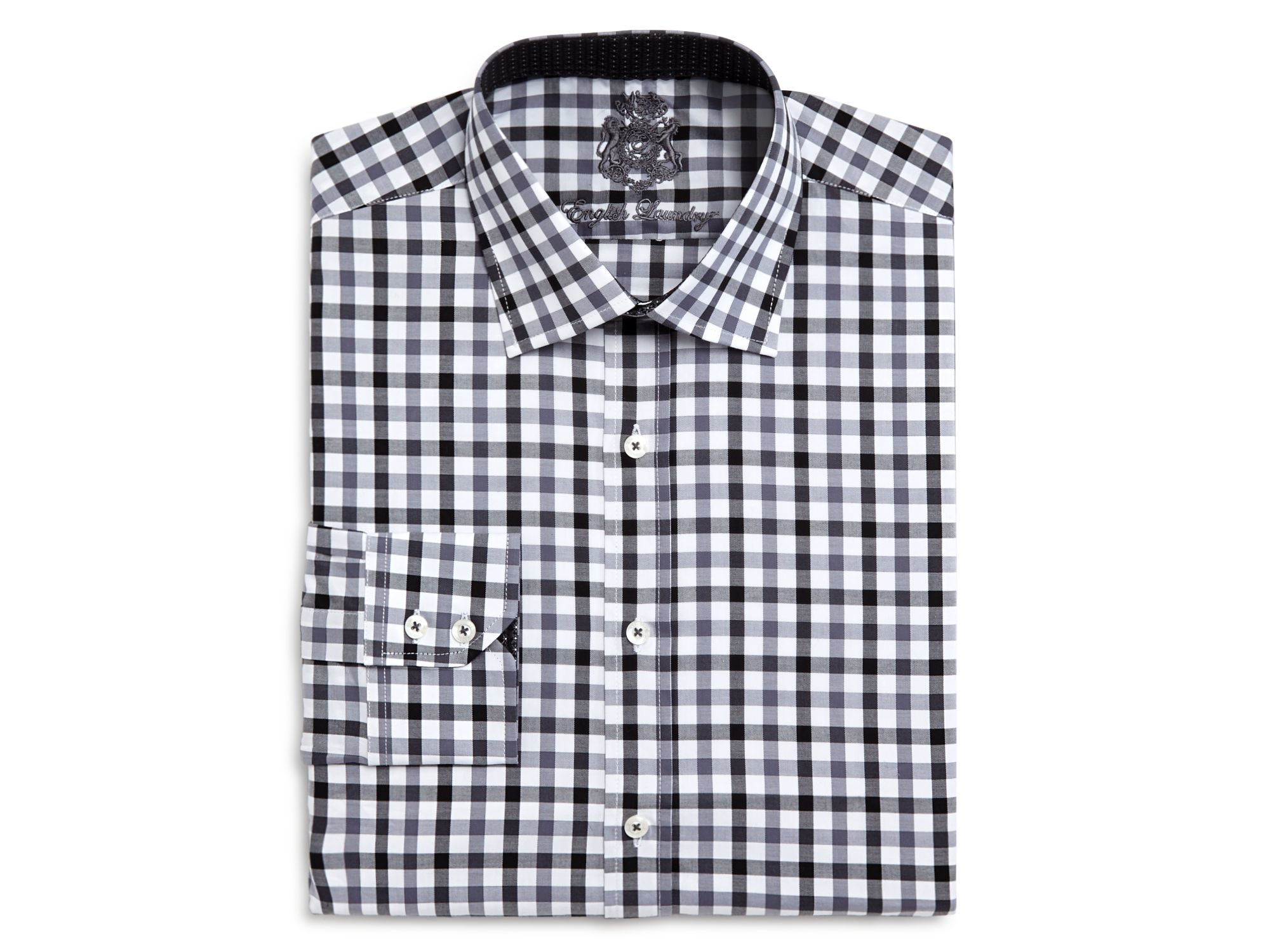 English Laundry El Gingham Big Tall Classic Fit Button