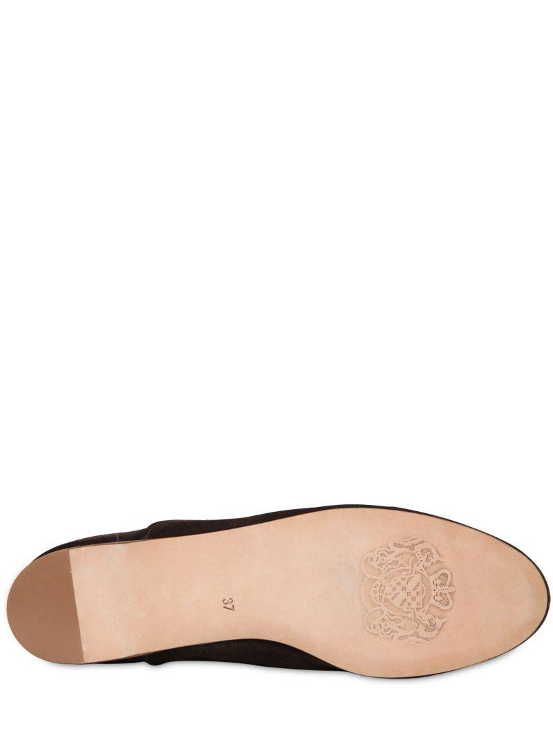 Alberto Fasciani 20Mm Lolita Suede Boots in Brown