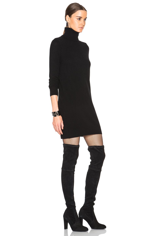 Lyst Equipment Cashmere Oscar Knit Dress In Black