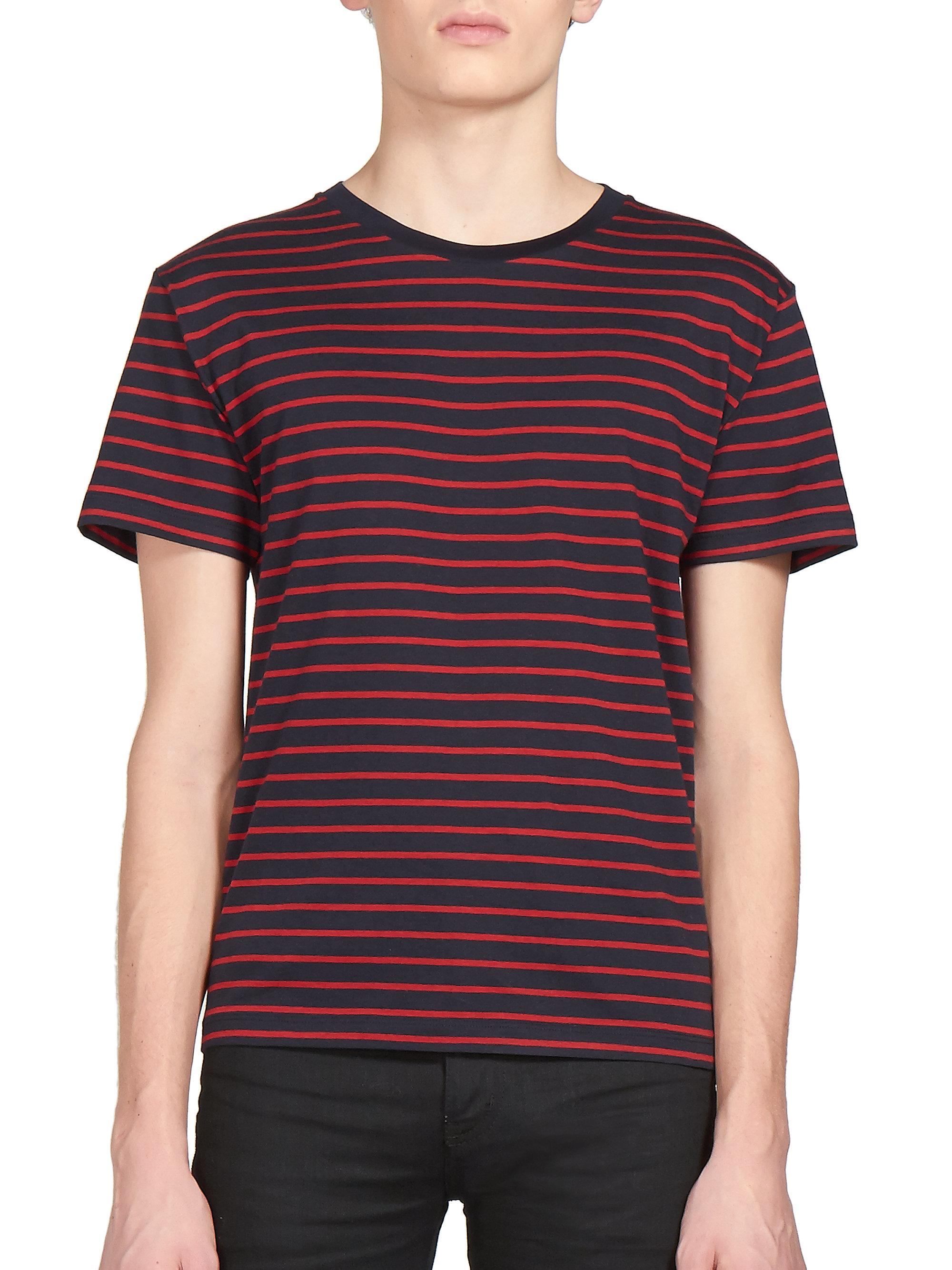 Cheap Sale 2018 Newest Black striped shirt Saint Laurent Footaction Cheap Price Genuine OLxGR