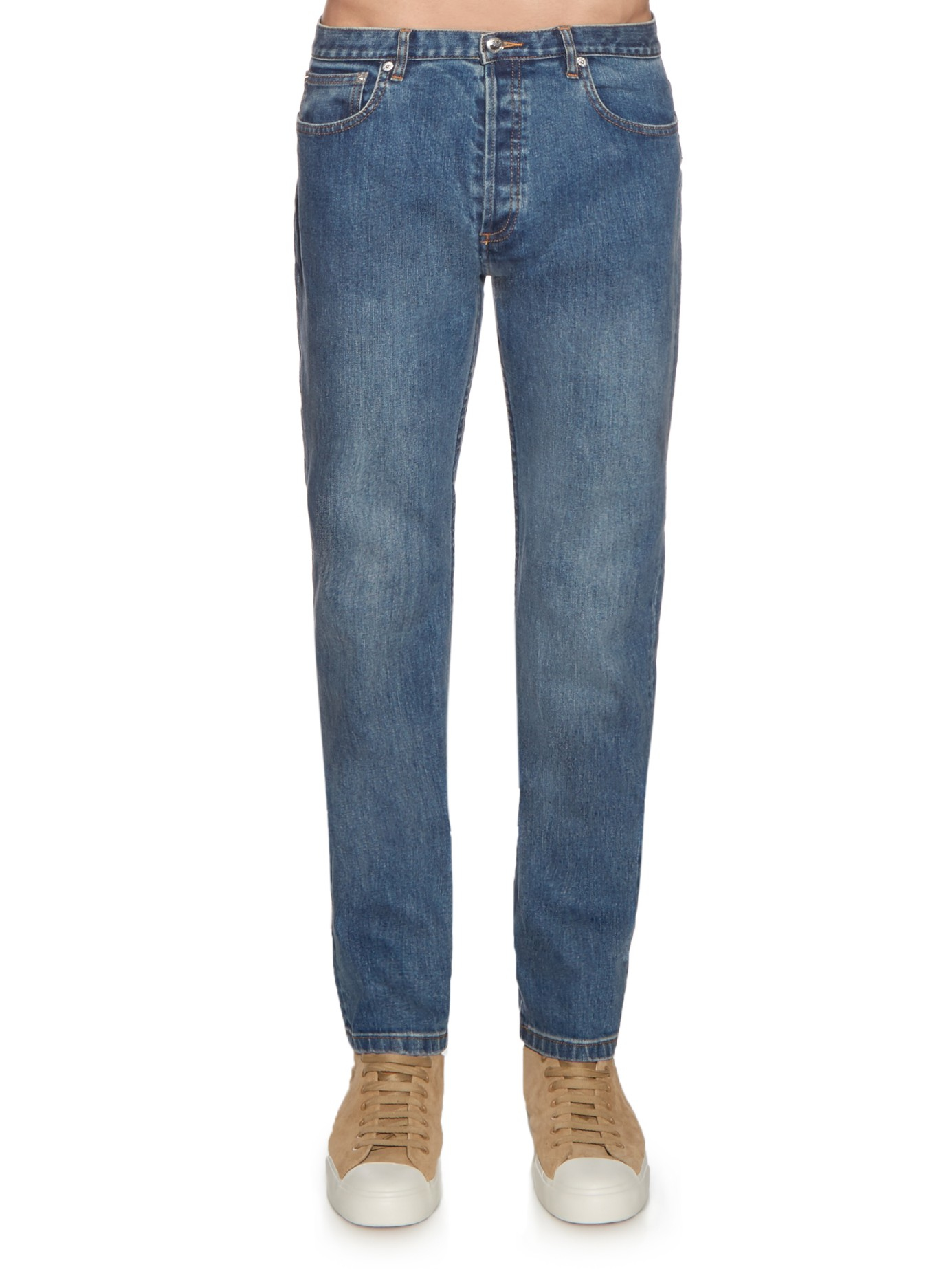 a p c petit new standard slim fit jeans in blue for men lyst. Black Bedroom Furniture Sets. Home Design Ideas
