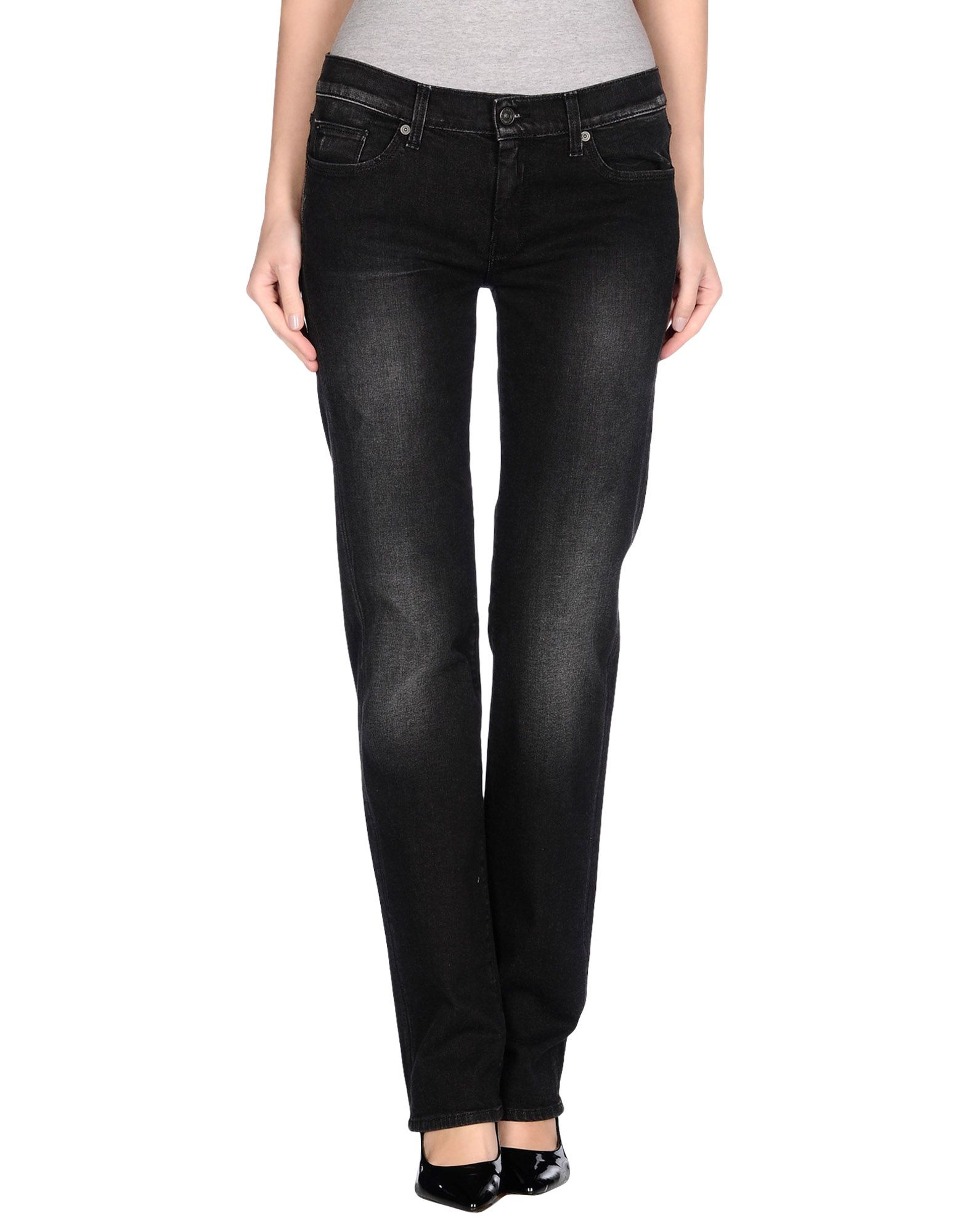 7 for all mankind denim trousers in black lyst. Black Bedroom Furniture Sets. Home Design Ideas