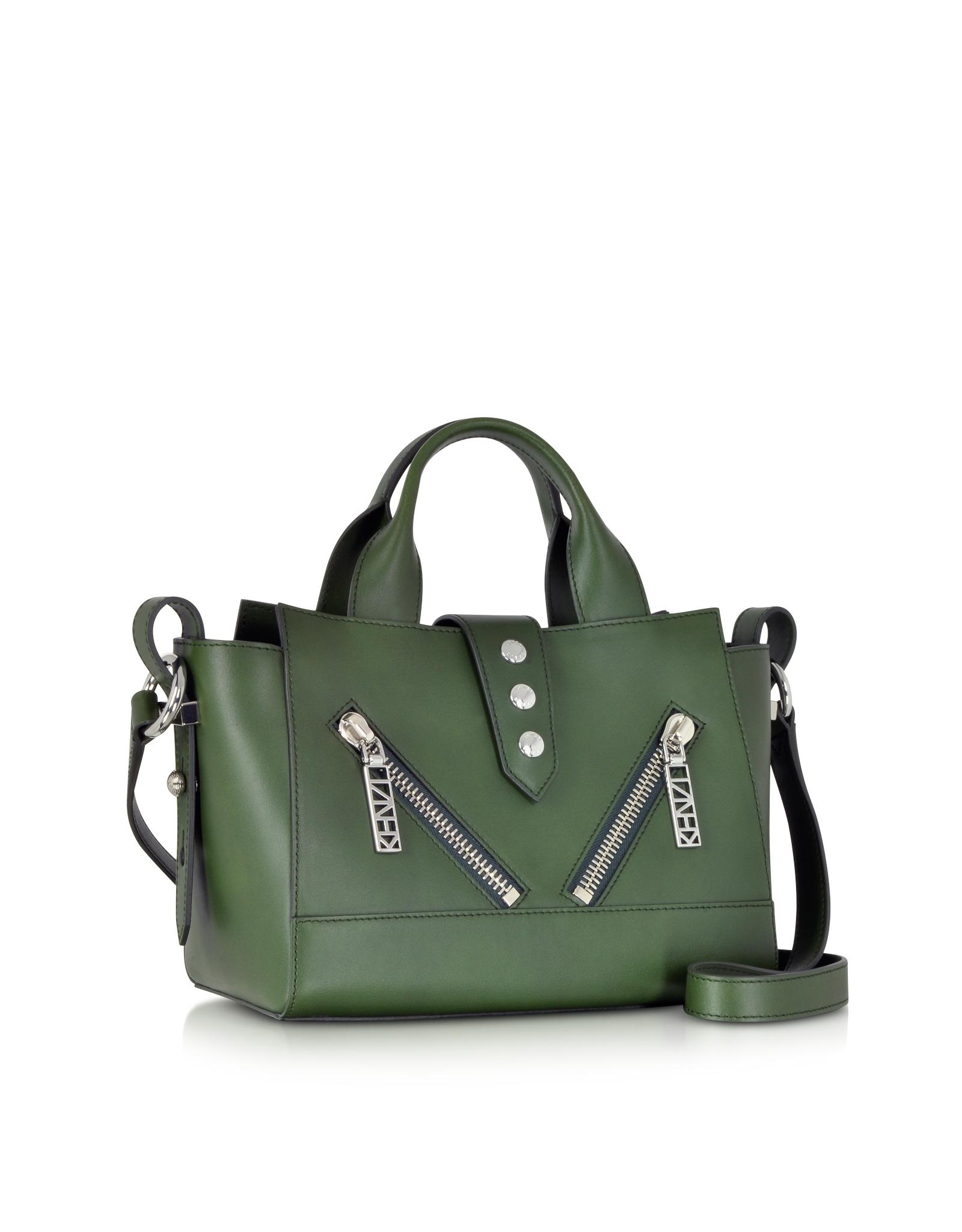 Kenzo Olive Green Leather Mini Kalifornia Handbag in Green | Lyst