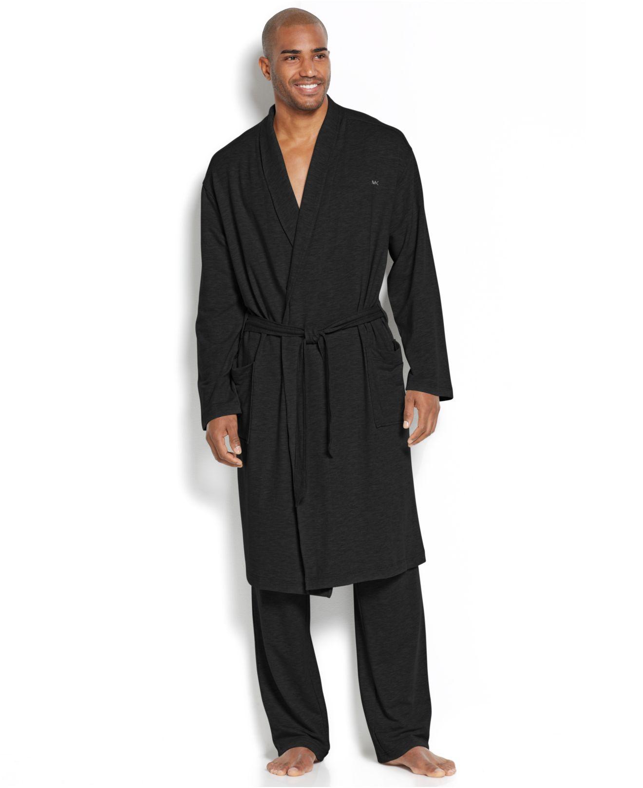 14495076f1 Lyst - Michael Kors Men S Modal French Robe in Black for Men