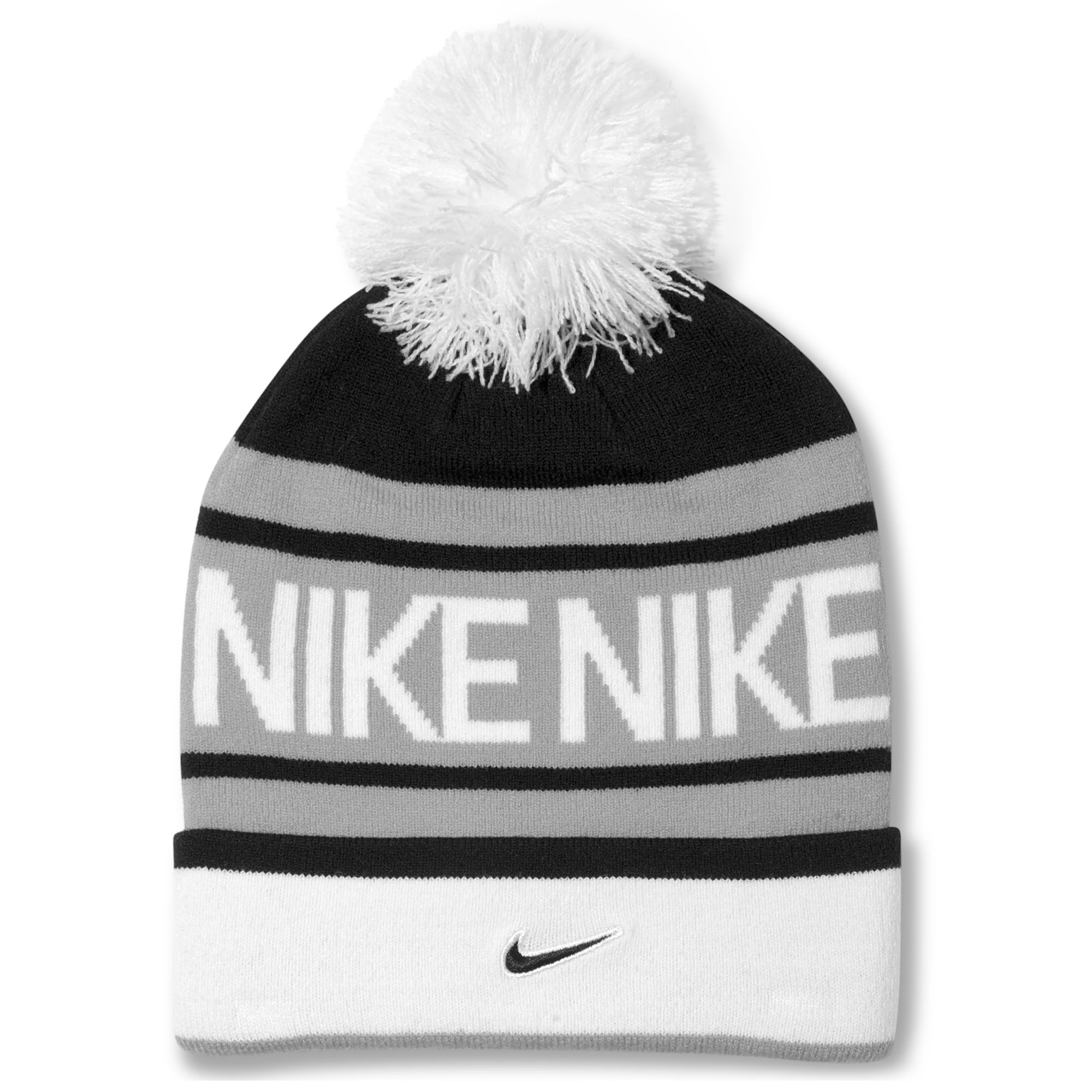 5ef499c237443 ... adidas originals mens trefoil ii knit beanie knit cap with visor 7e5af  badad  italy lyst nike pom pom beanie in black for men 5bdd8 b3cac
