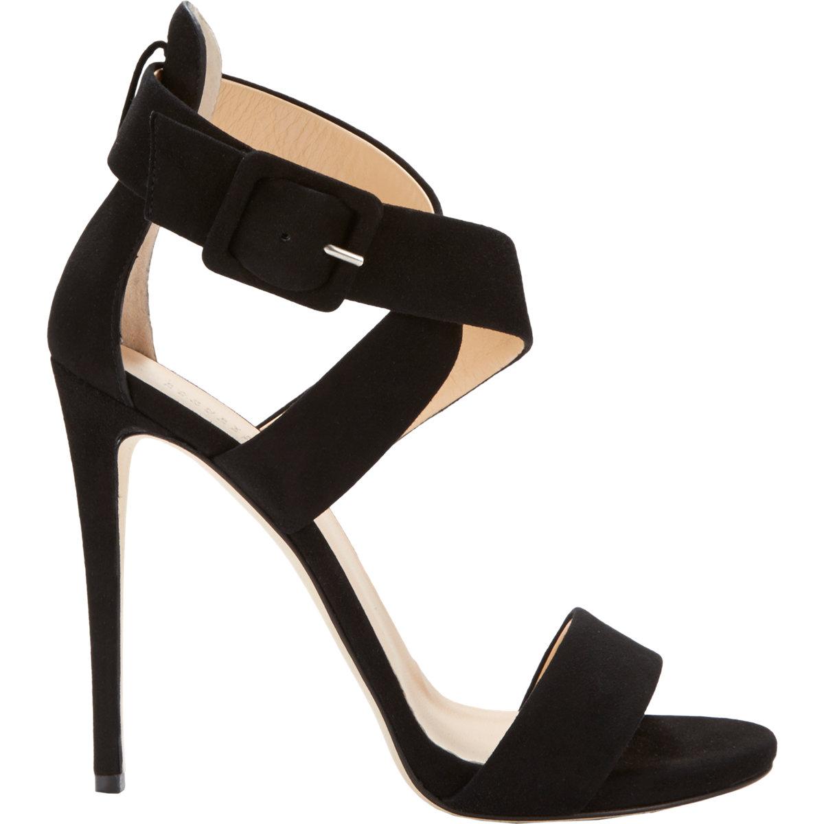 0508e973f319 Lyst - Barneys New York Women s Crisscross-strap Sandals in Black