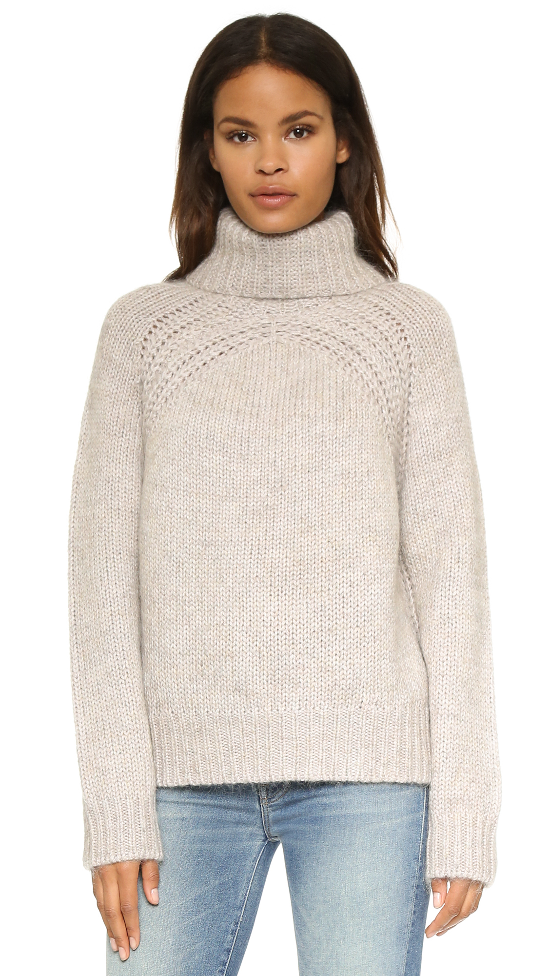 76aa40940a60f Raquel Allegra Turtleneck Pullover Sweater in Natural - Lyst