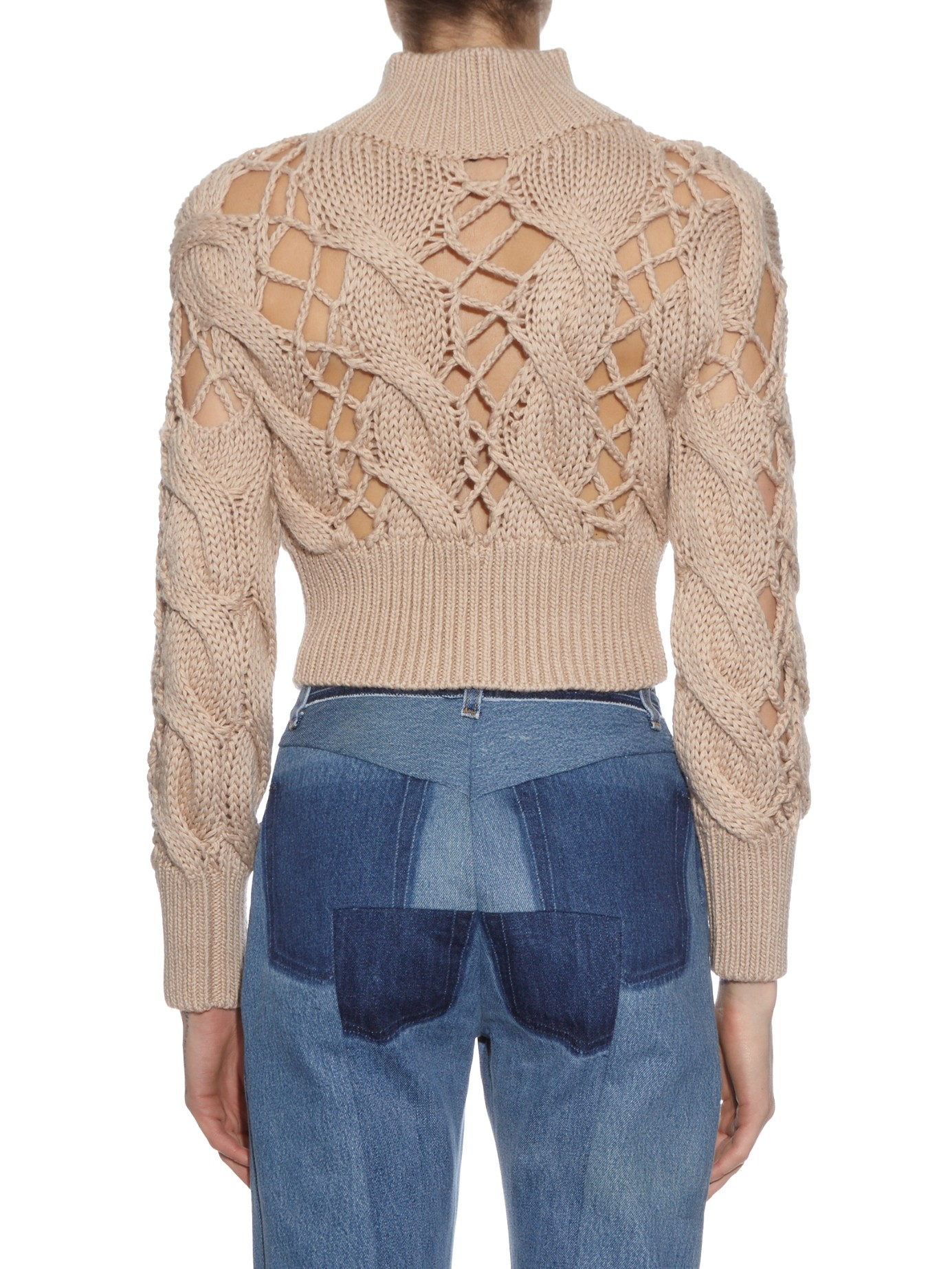 Mm6 by maison martin margiela Chunky Cable-knit Sweater in Natural ...