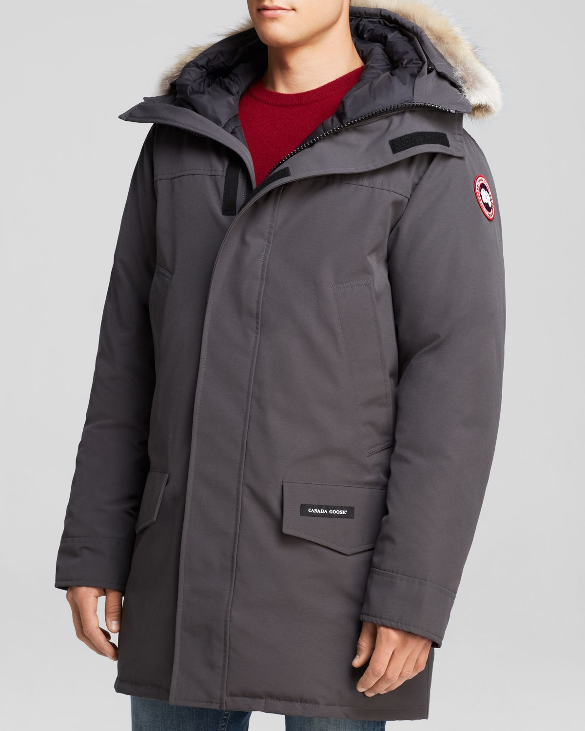 Canada Goose Langford Parka With Fur Hood In Gray For Men