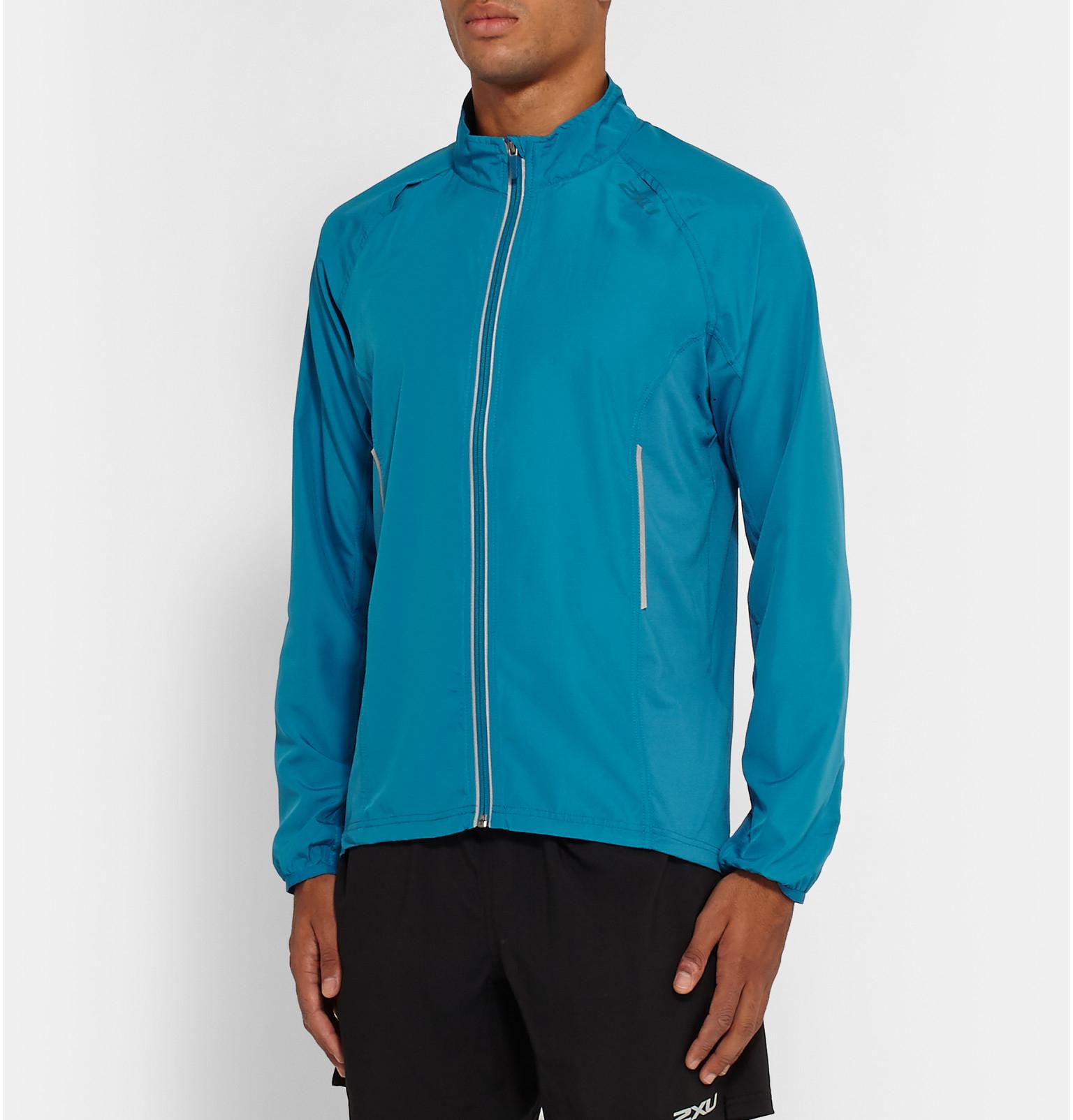 4fb5e458 2XU Hyoptik Vapor+ Shell Running Jacket in Blue for Men - Lyst