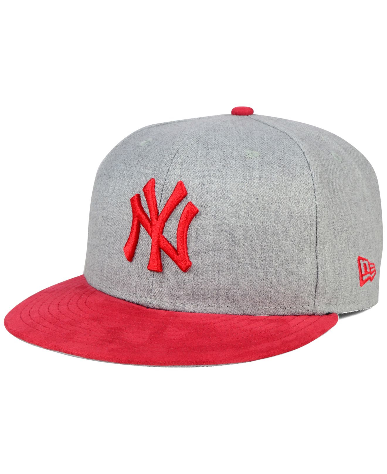 bfb02b567fc ... greece lyst ktz new york yankees heather on faux suede 9fifty snapback  6a7fa 17d0c