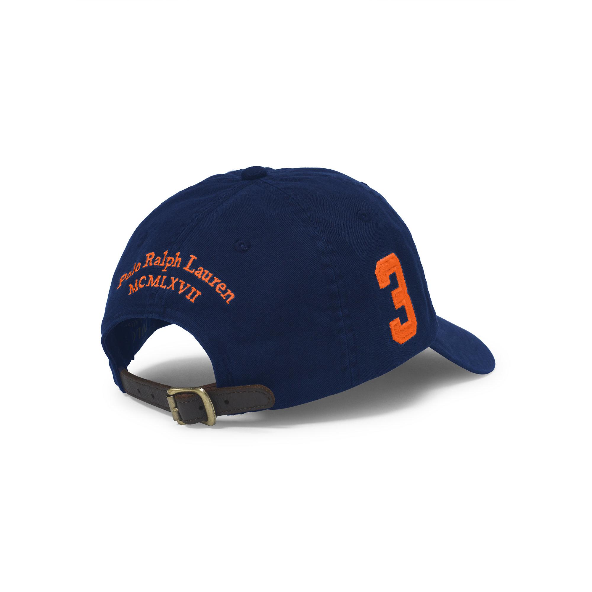 Lyst - Polo Ralph Lauren Big Pony Chino Baseball Cap in Blue for Men 47fb00de8a3