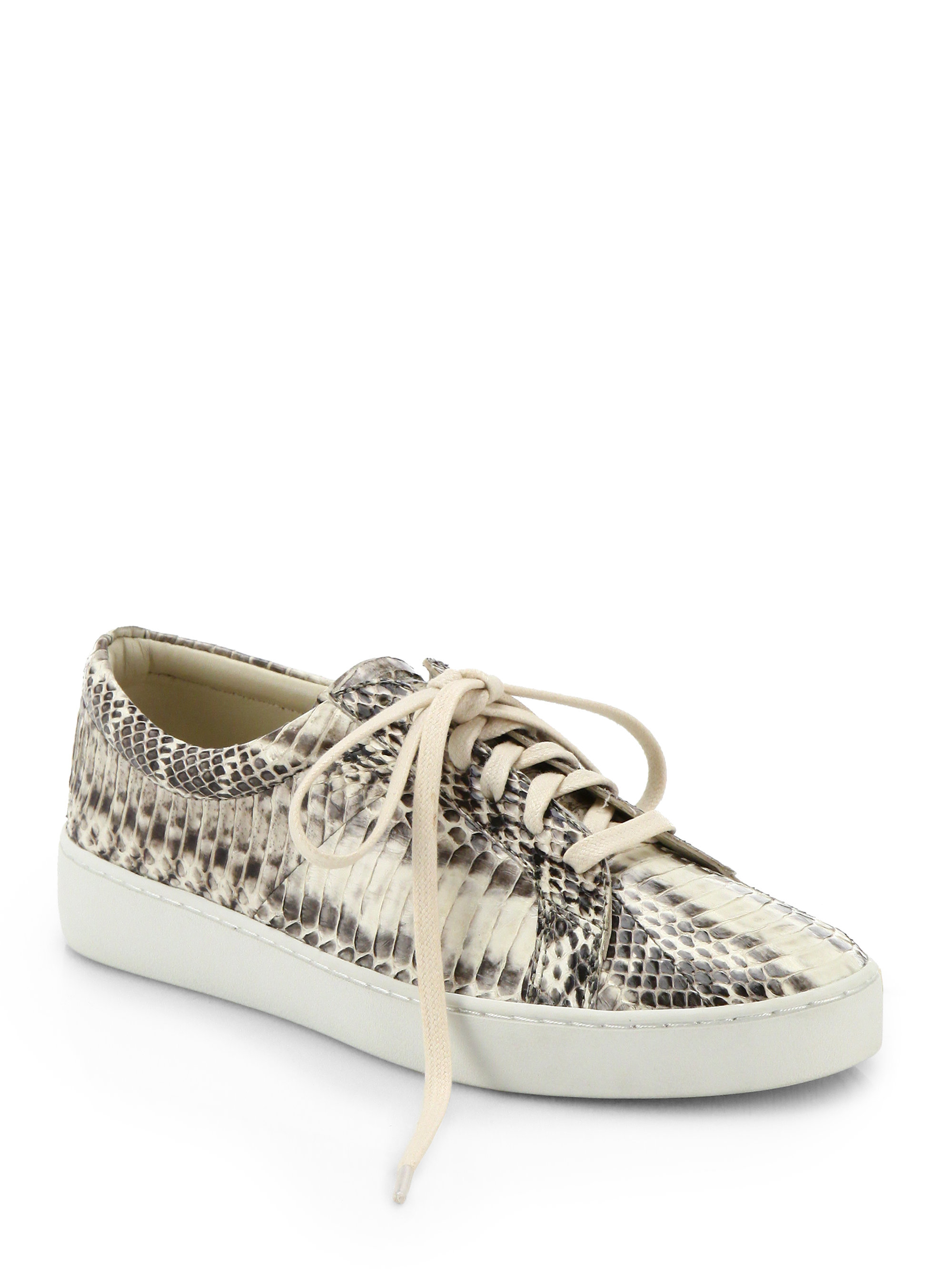 Lyst Michael Kors Valin Runway Snakeskin Lace Up