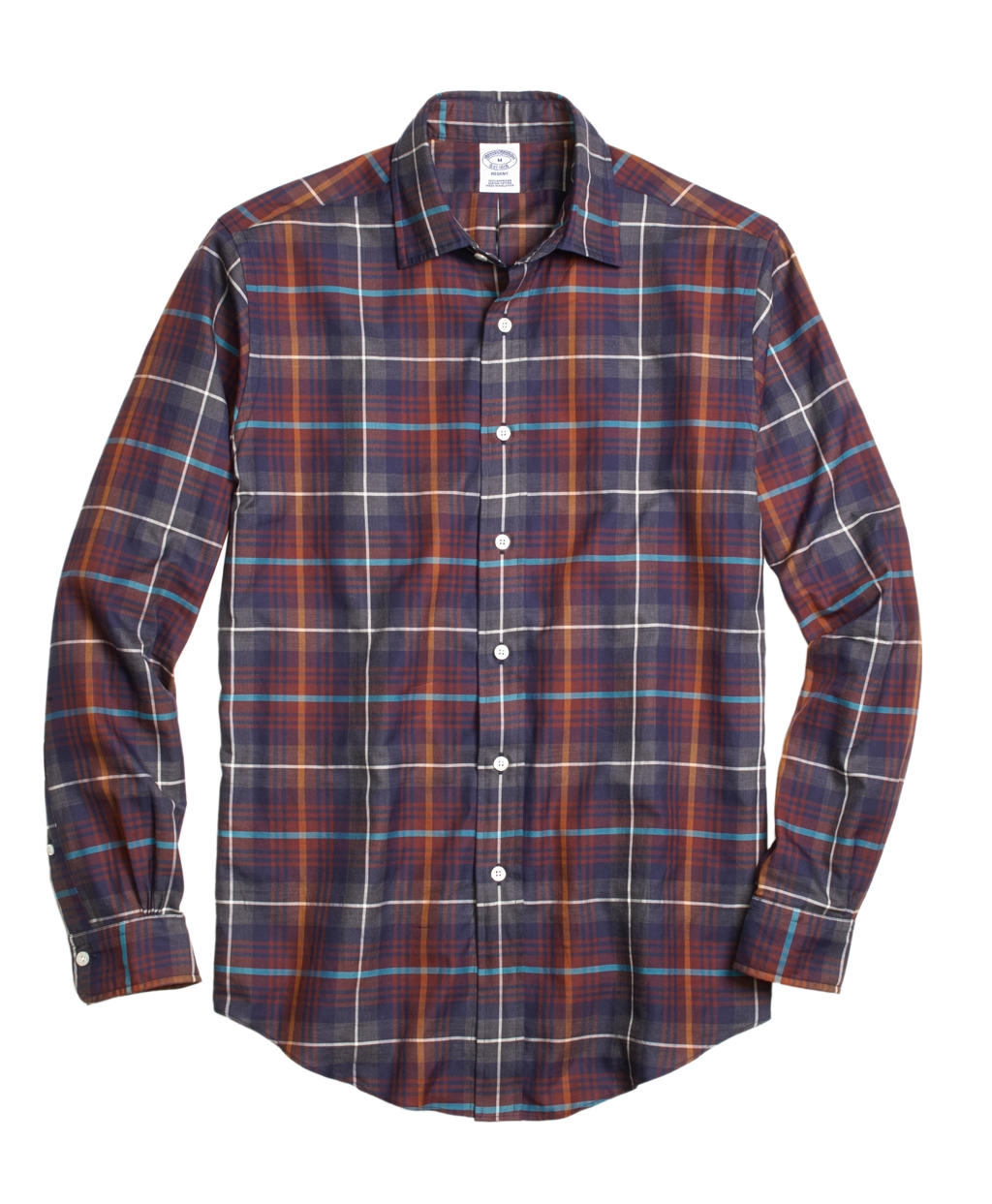 Brooks brothers milano fit brown heathered plaid sport Brooks brothers shirt size guide