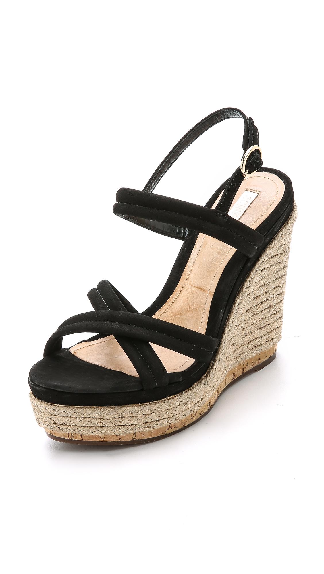 Lyst Schutz Evy Espadrille Wedge Sandals Black In Black