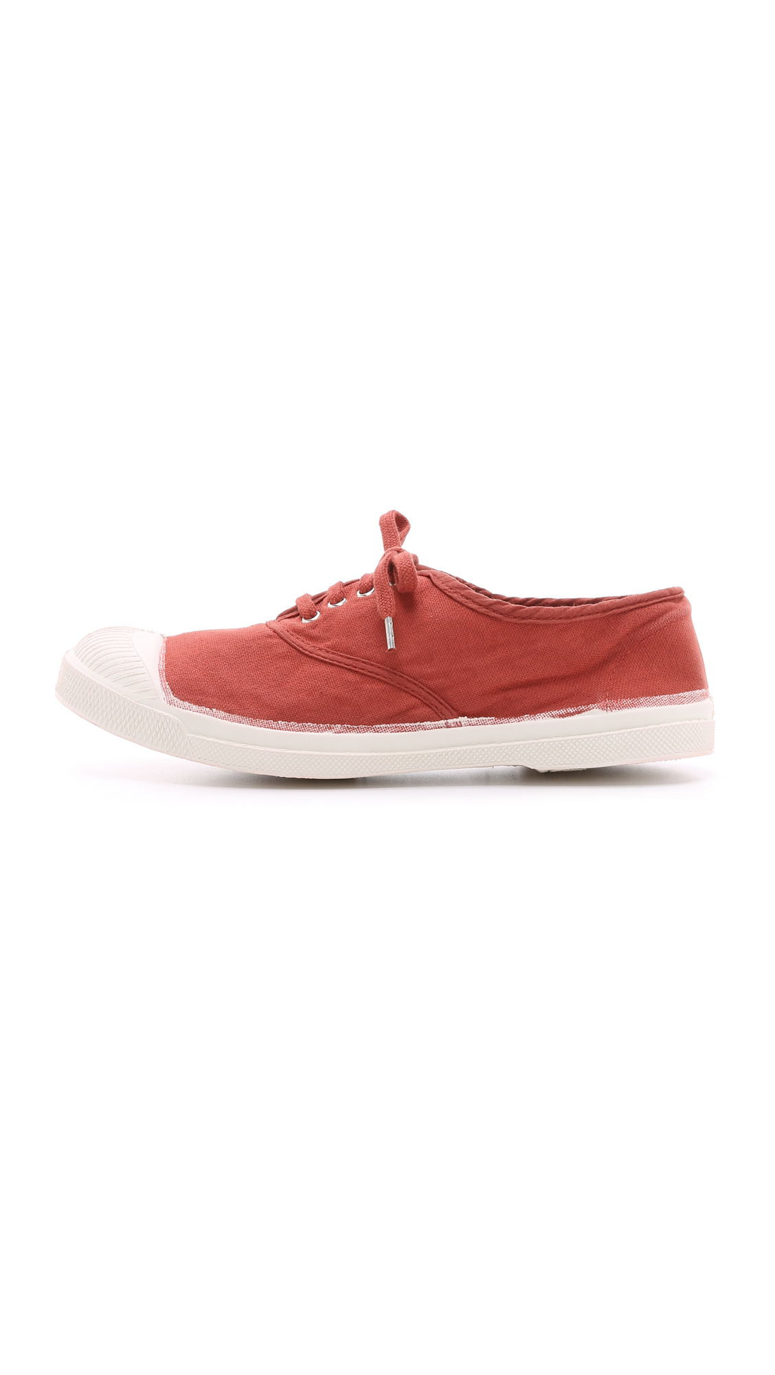 Bensimon Tennis Laced Sneakers in Red