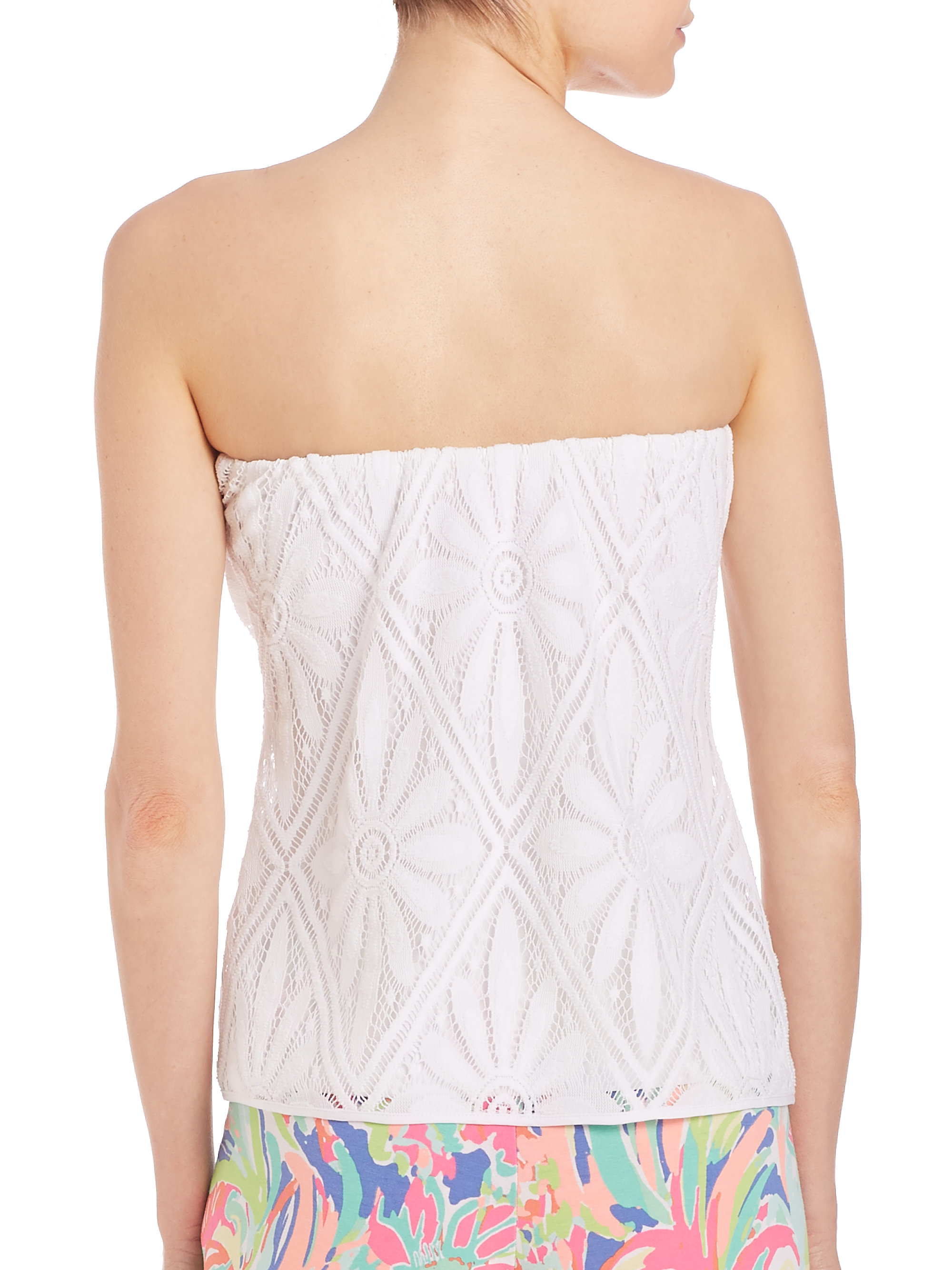 ce3c6583f0e Lyst - Lilly Pulitzer Tyra Tube Top in White