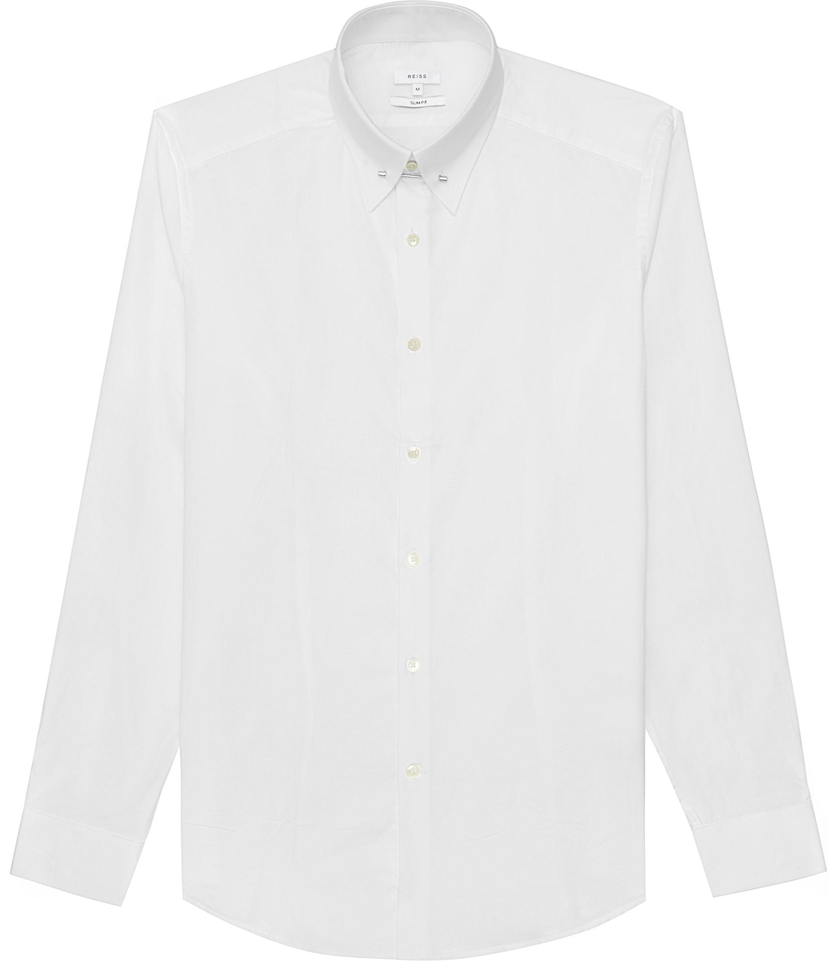 Lyst Reiss Belfort Collar Pin Shirt In White For Men