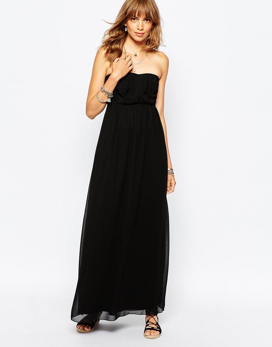 Bandeau bodycon maxi dress