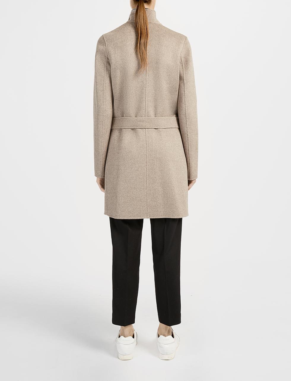 Joseph Double Cashmere Lisa Long Coat in Natural | Lyst