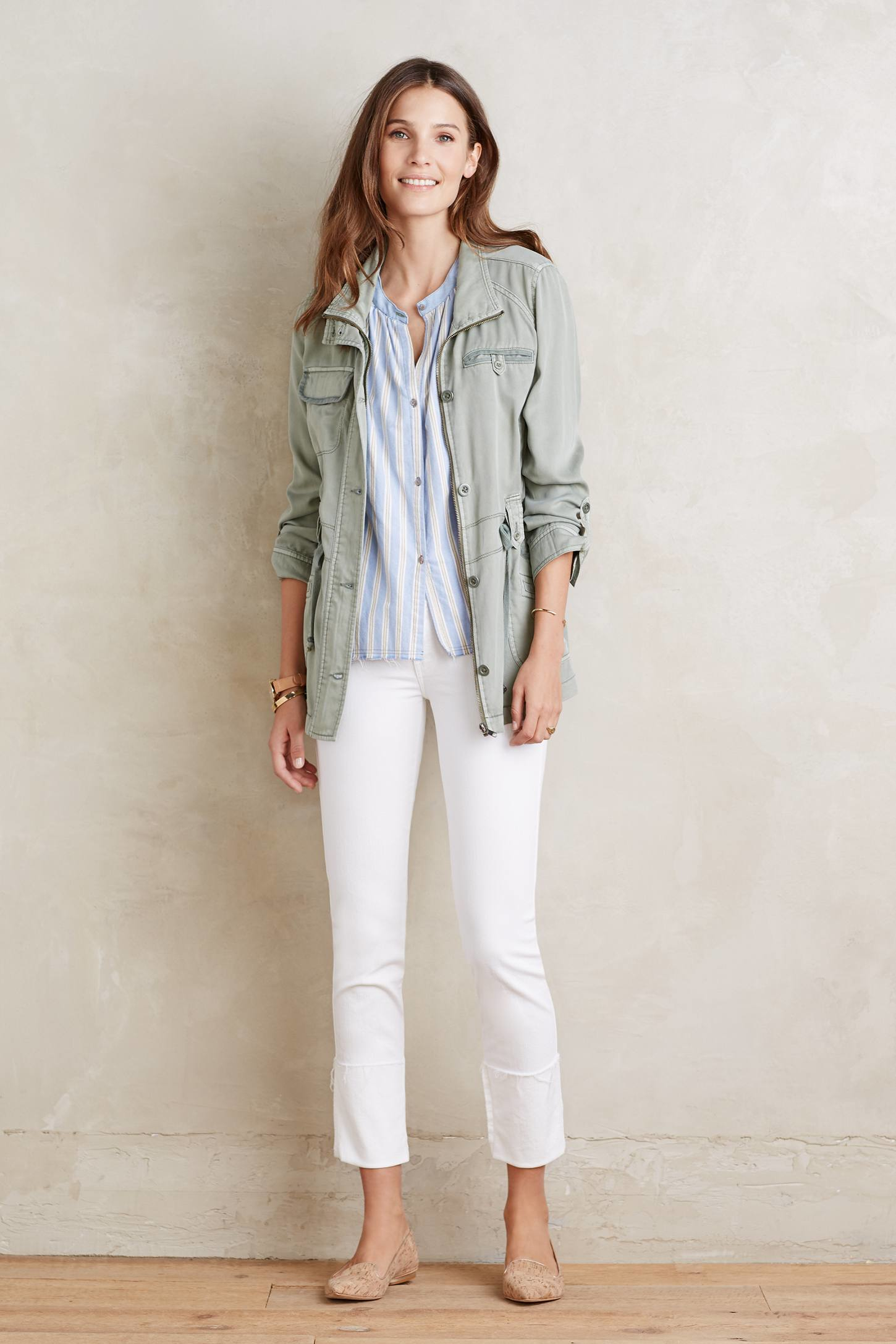 Mother Ponyboy Fray Jeans in White | Lyst