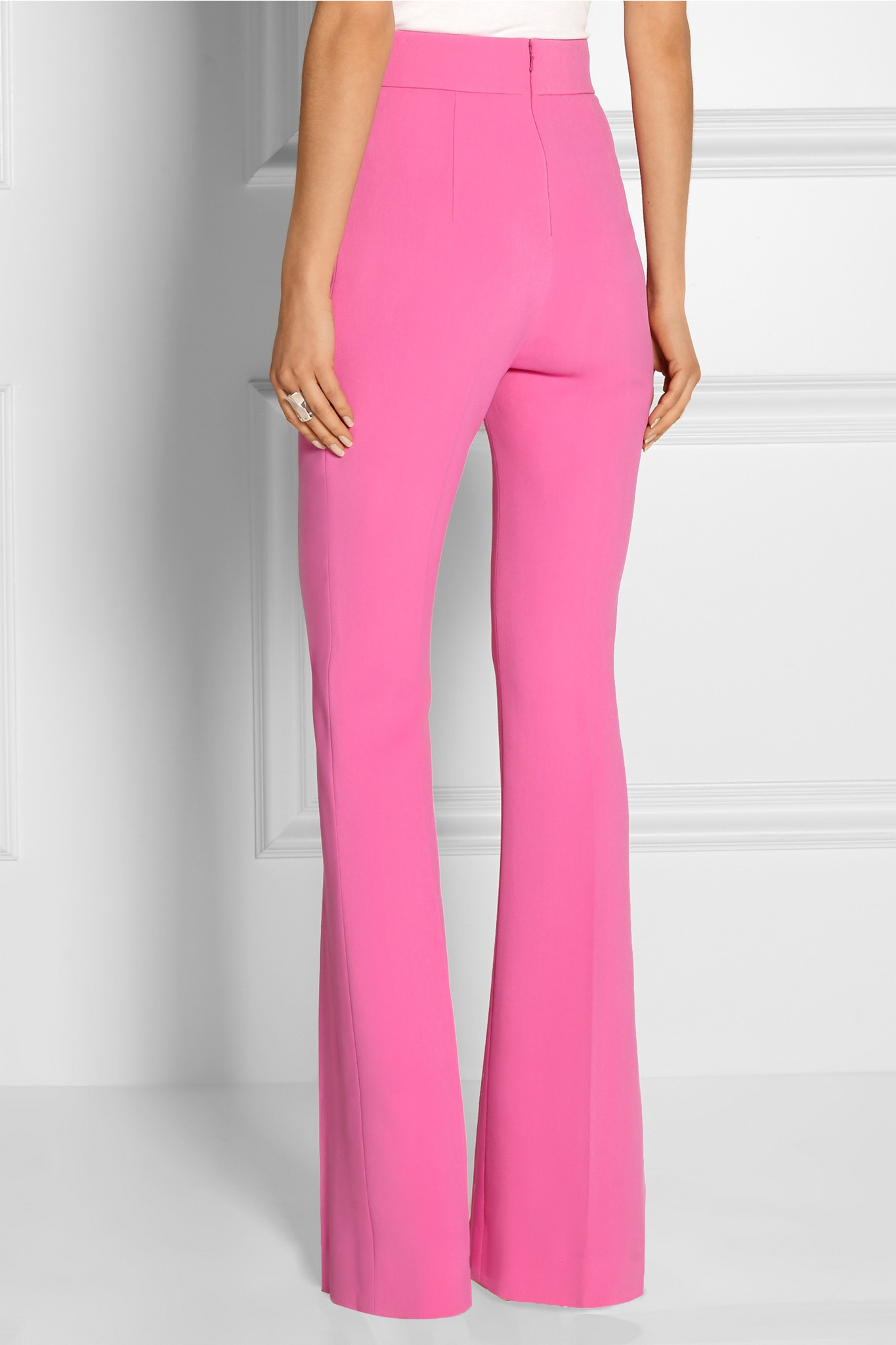 Cushnie et Ochs Stretch-cady Flared Pants in Pink