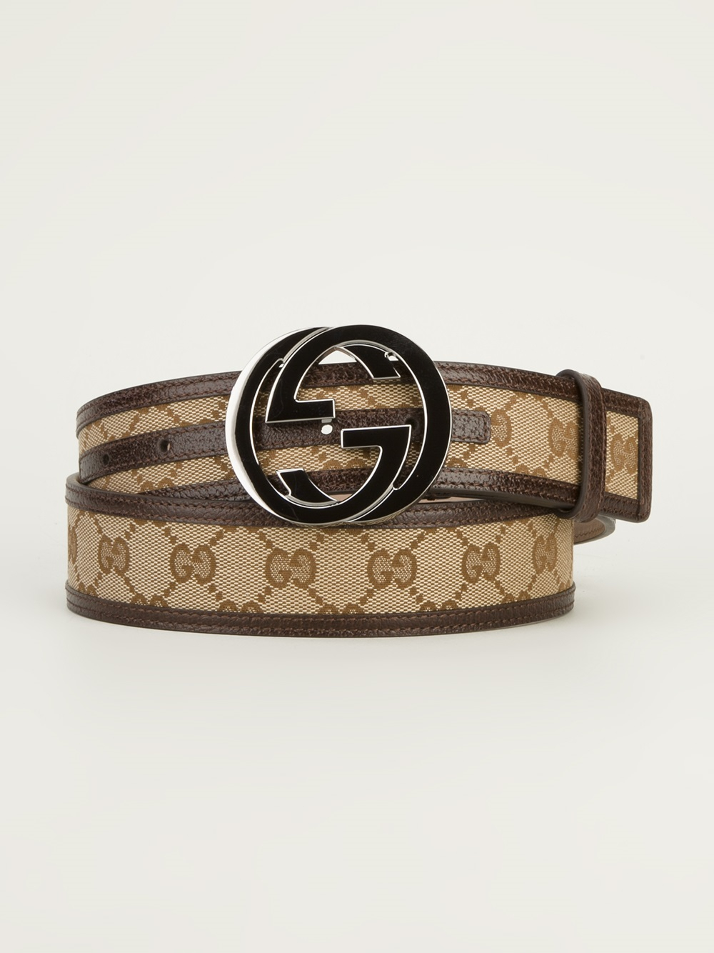 ceda73ae8d0 Lyst - Gucci Logo Belt in Brown for Men
