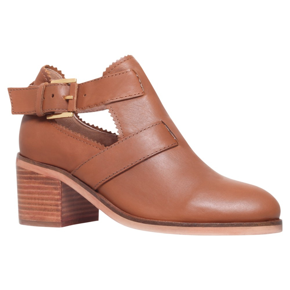 carvela kurt geiger serena leather cut out ankle boots in