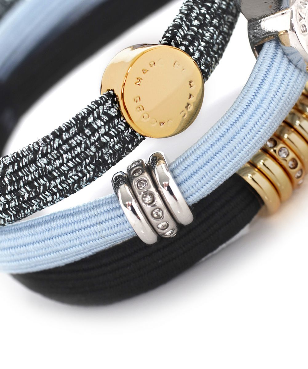 Lyst - Marc Jacobs Embellished Wingnut Coil Hair Ties in Blue 89f1df54830