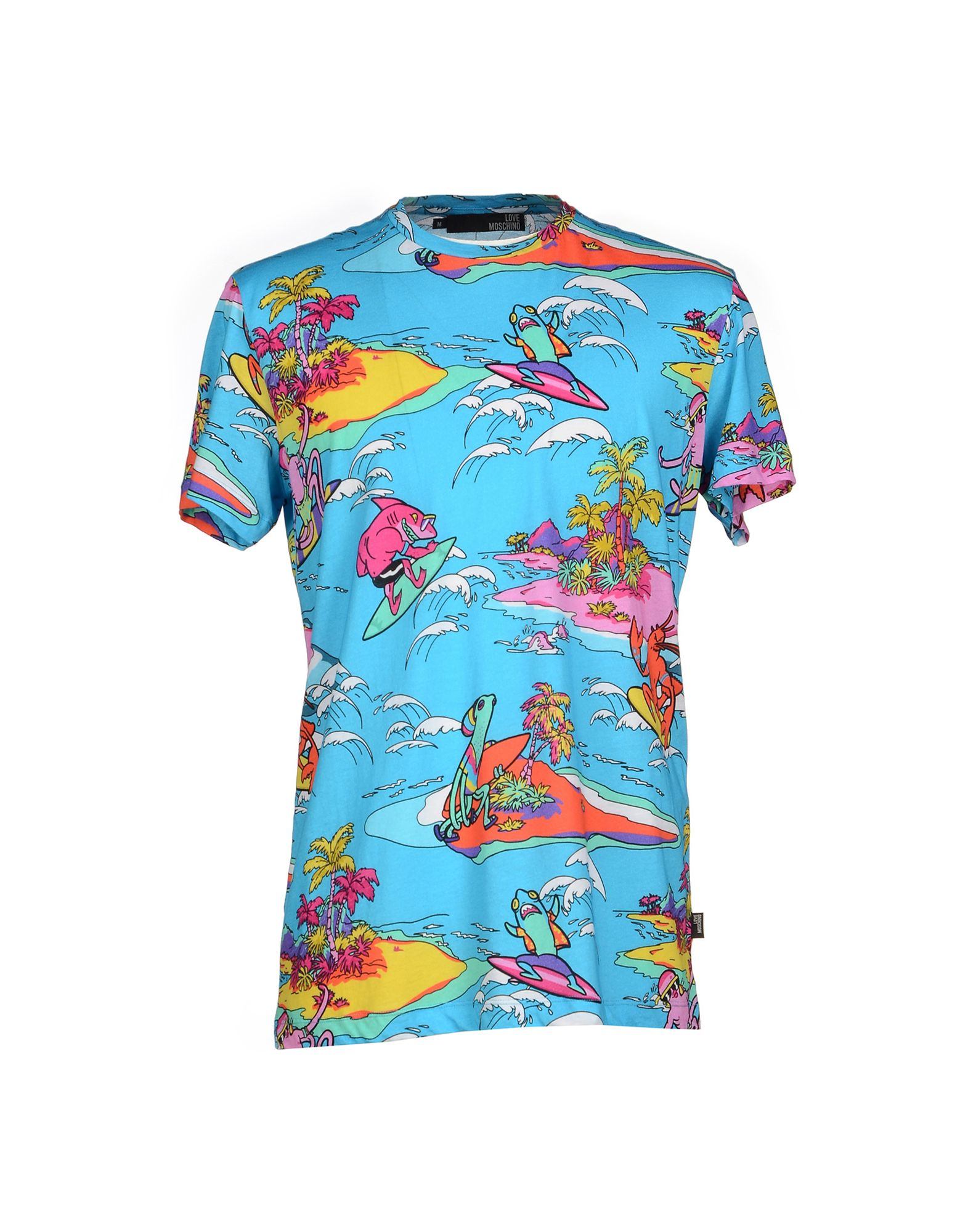 love moschino surfing lobster t shirt in blue for men lyst. Black Bedroom Furniture Sets. Home Design Ideas