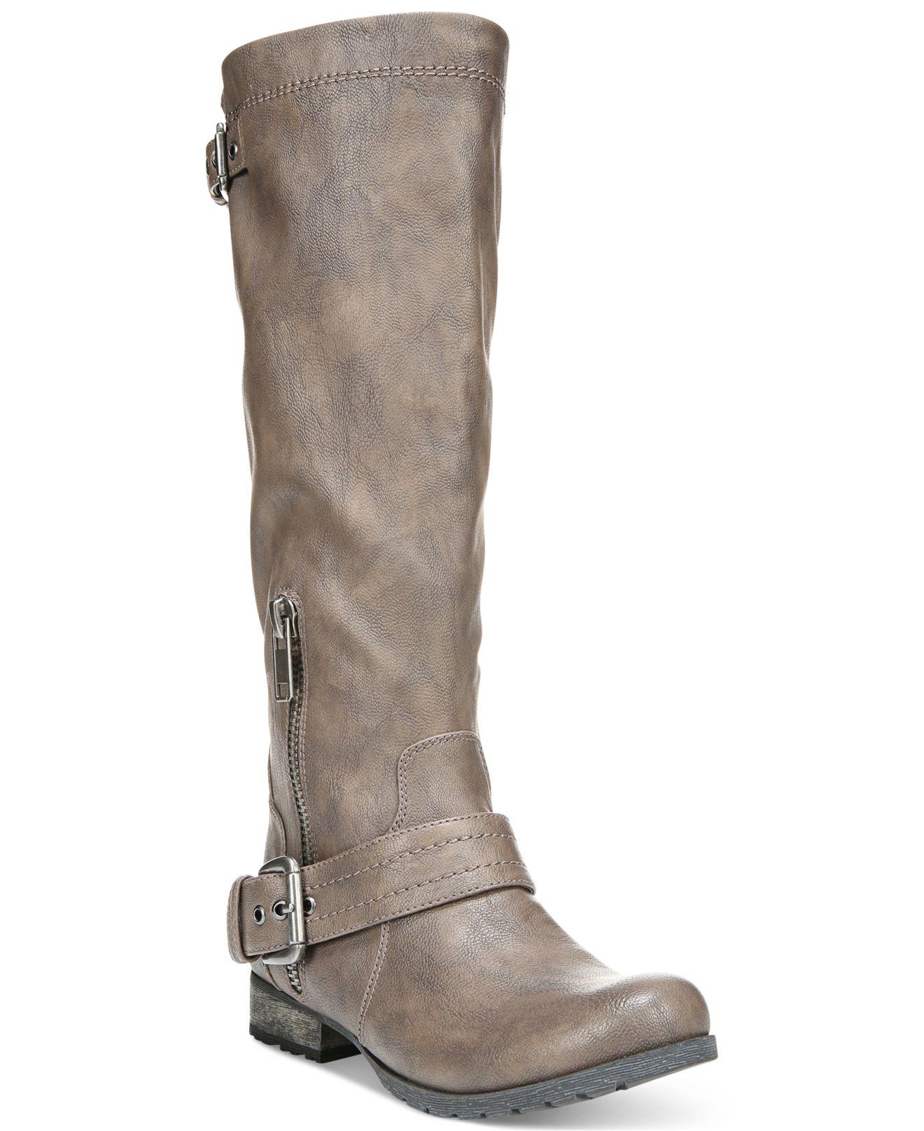 carlos by carlos santana hamilton boots in brown taupe