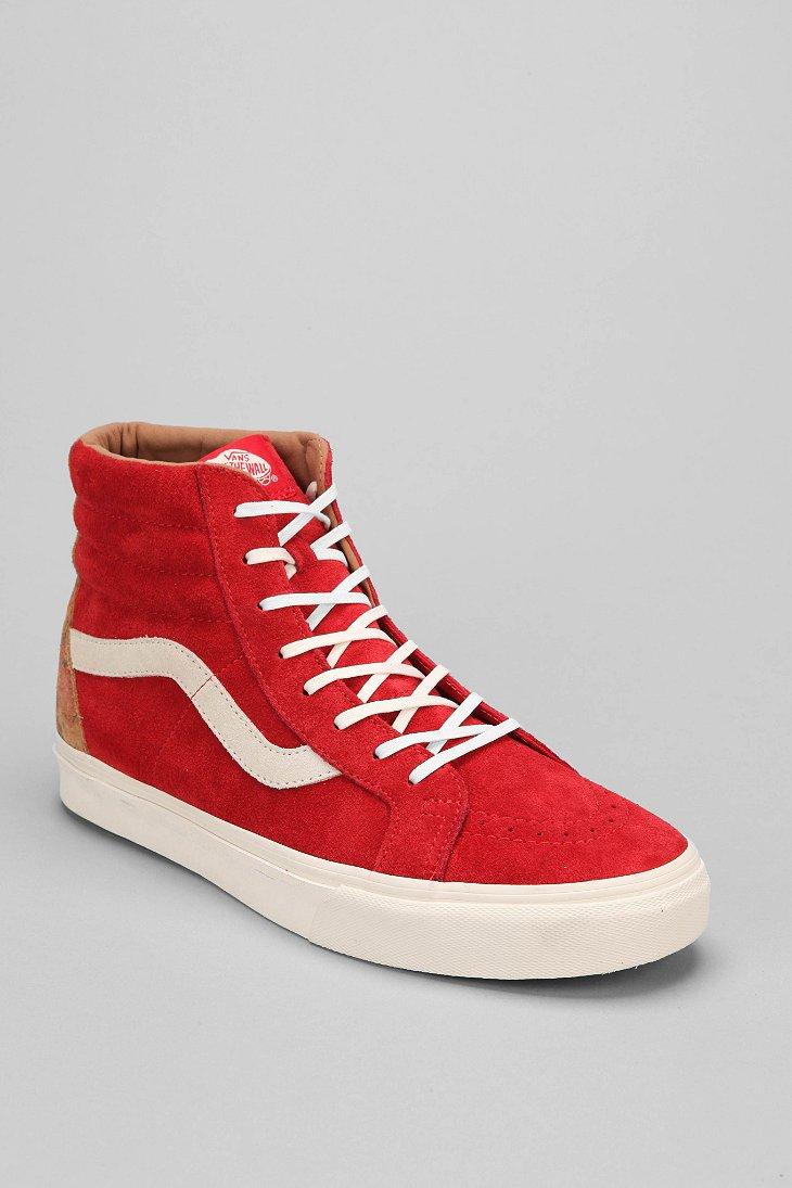 e84b06e113e3 Vans Sk8hi California Suede Hightop Mens Sneaker in Red for Men - Lyst