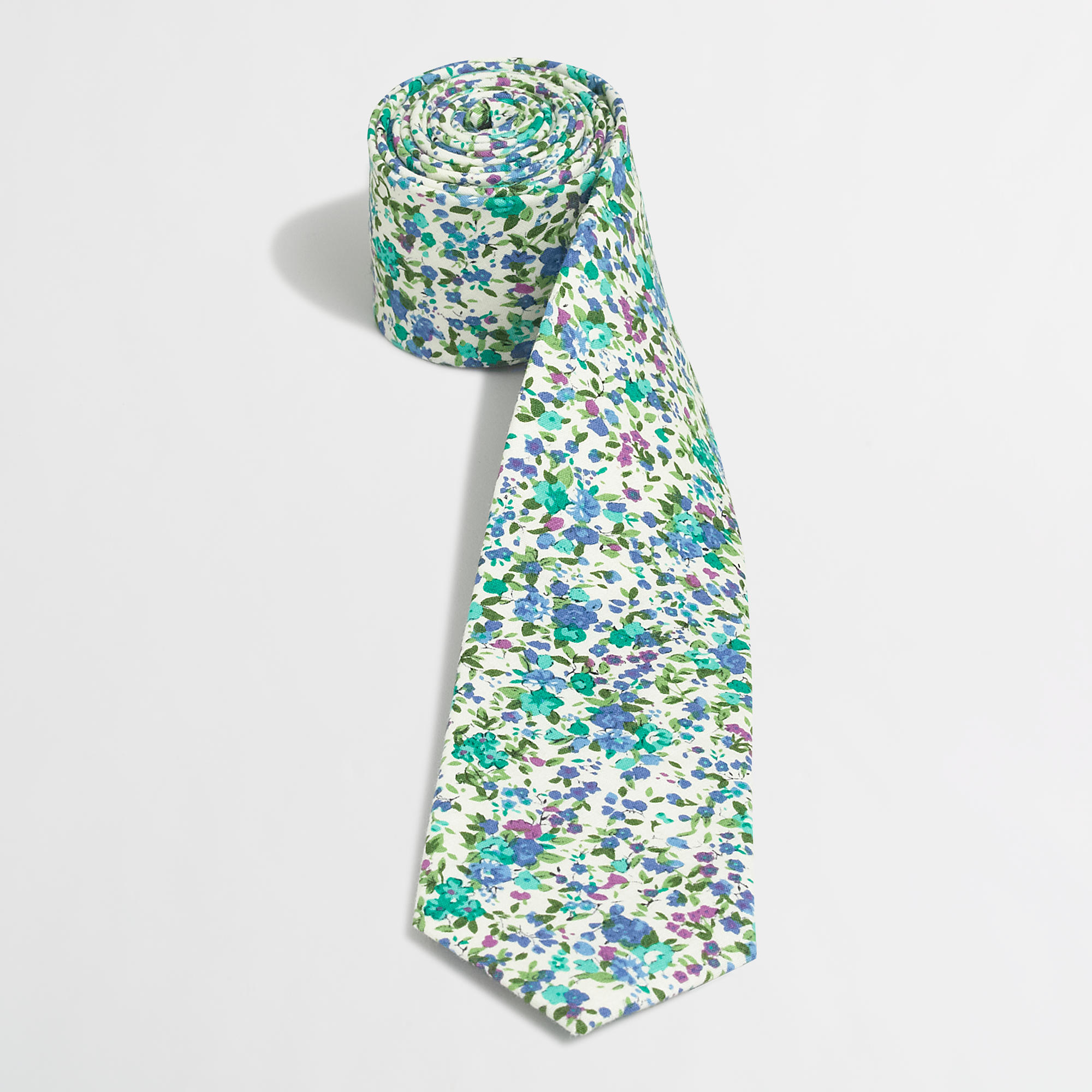 j crew factory floral tie for lyst