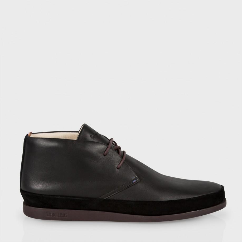 paul smith s black leather loomis chukka boots with
