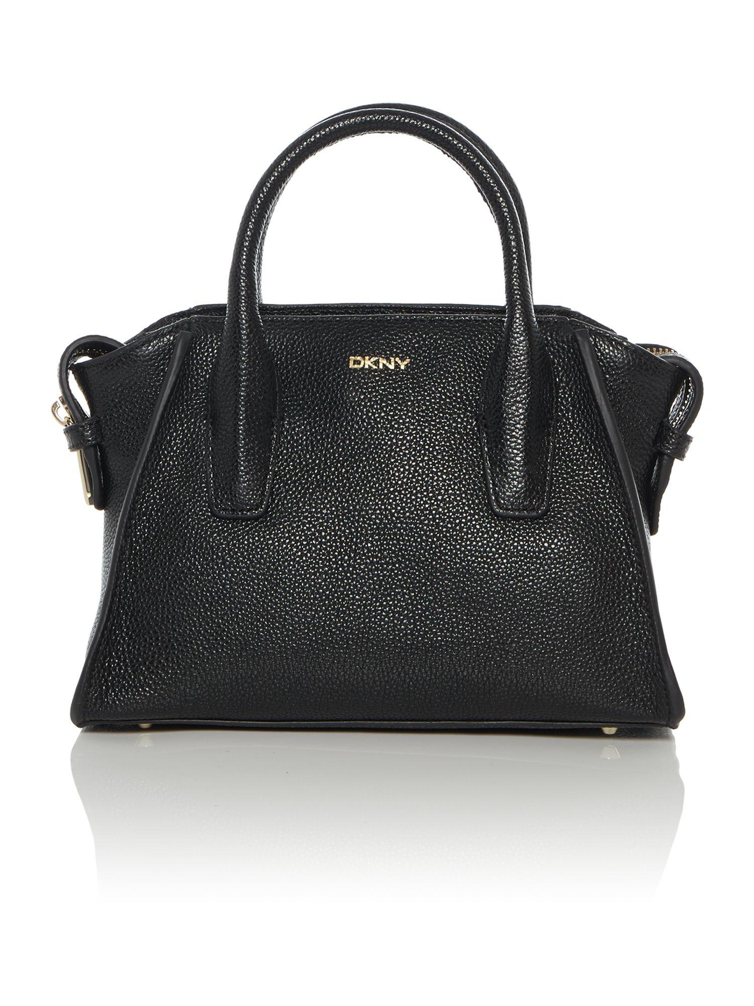 Dkny Chelsea Vintage Black Mini Satchel Bag in Black | Lyst