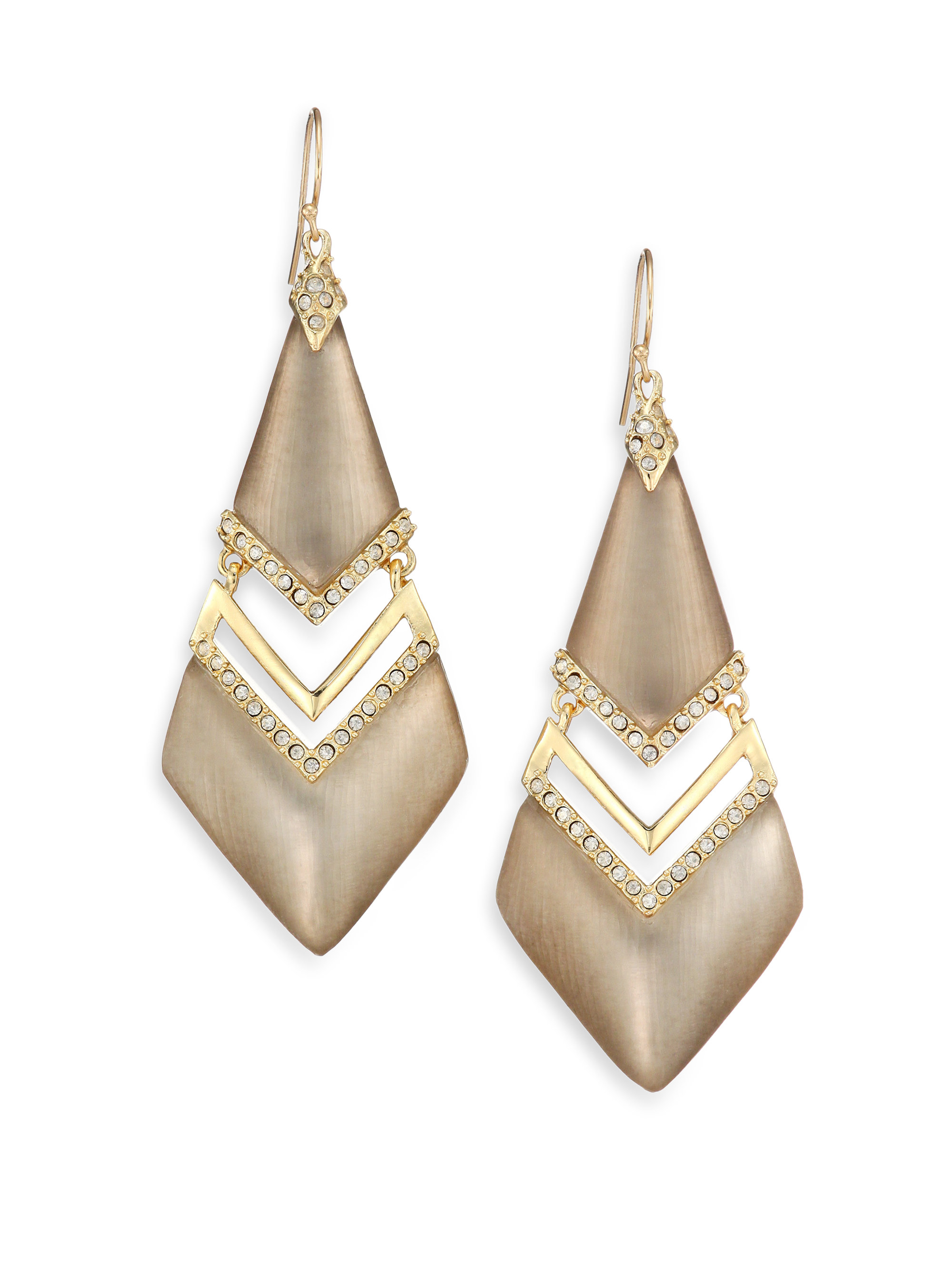 lyst alexis bittar phoenix deco lucite   crystal chevron metal wire clips on wagner brakes metal wire clips on wagner brakes
