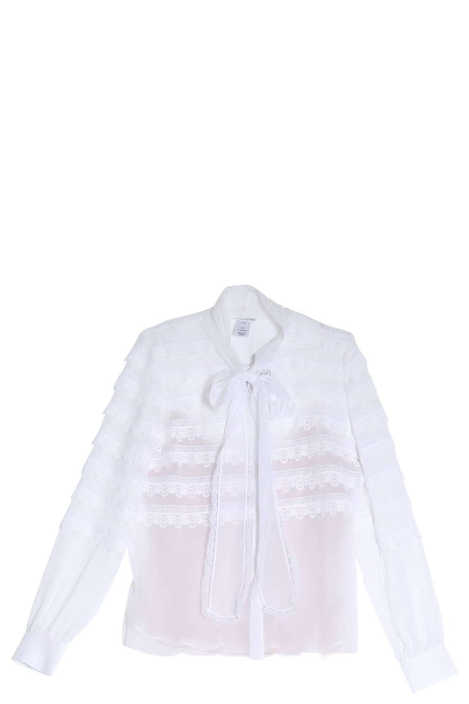 lyst oscar de la renta ruffle shirt in white On oscar de la renta shirts