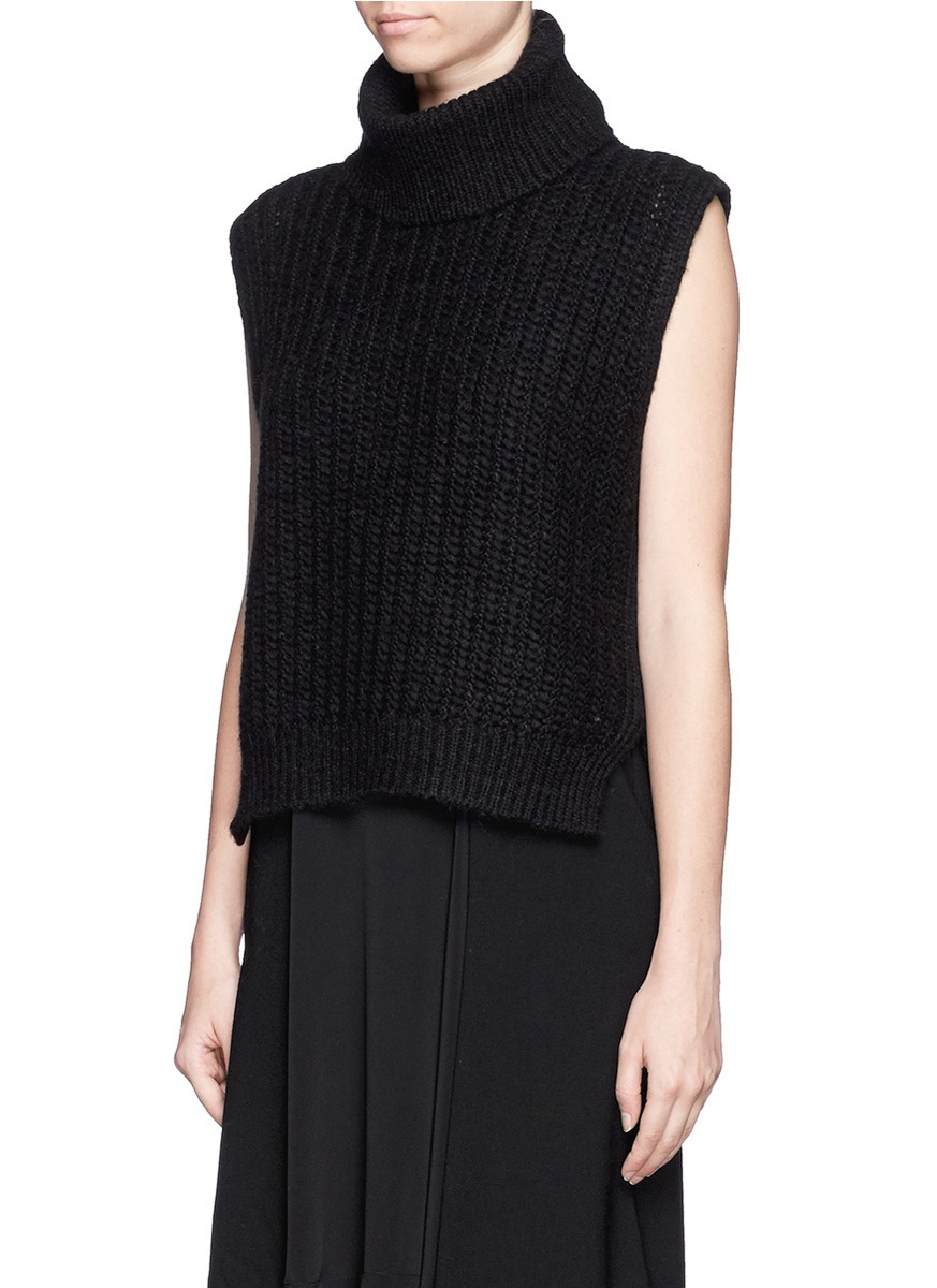 3 1 Phillip Lim Sleeveless Turtleneck Knit Top In Black Lyst