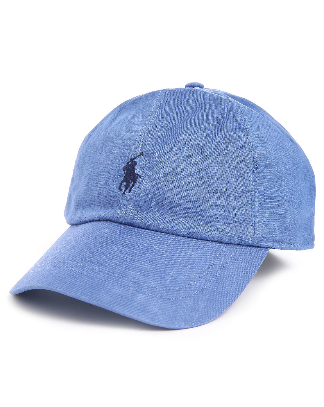 polo ralph lauren blue elasticated linen cap in blue for. Black Bedroom Furniture Sets. Home Design Ideas