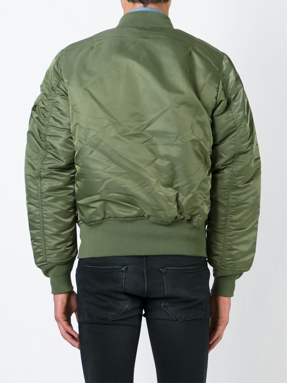 alpha industries classic bomber jacket in green for men lyst. Black Bedroom Furniture Sets. Home Design Ideas