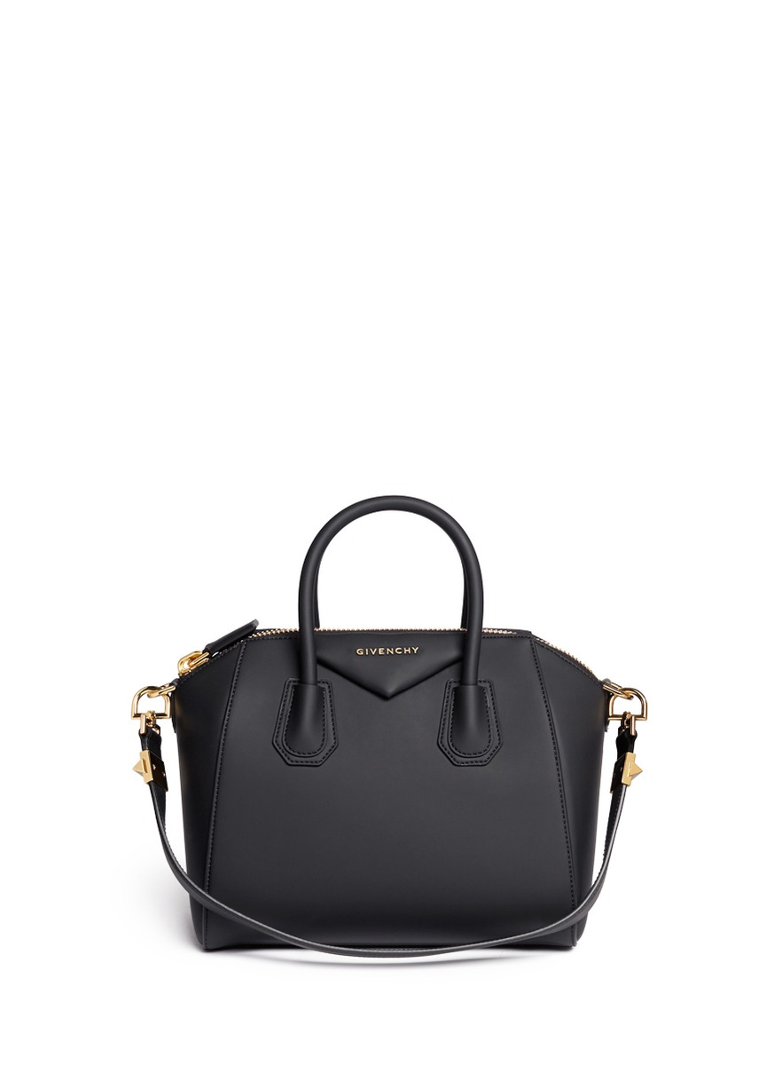 63073b3ab5e2 Lyst - Givenchy Antigona Small Rubberized Shoulder Bag in Black