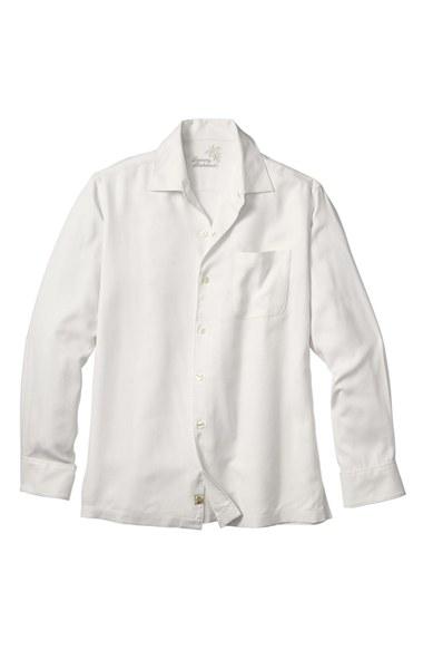 Lyst tommy bahama 39 catalina twill 39 long sleeve silk for Tommy bahama long sleeve dress shirts