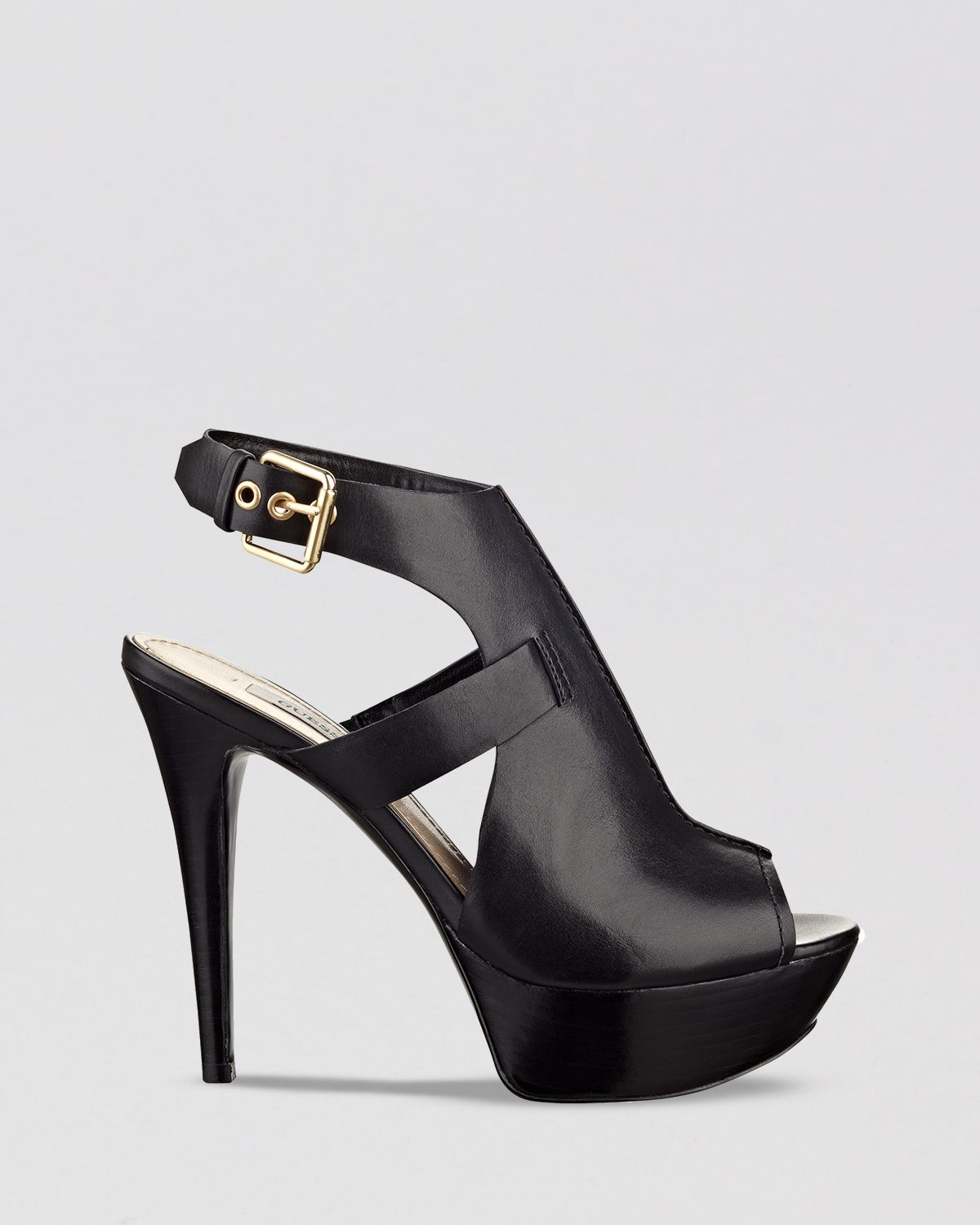 c5071a745a1 Lyst - Guess Open Toe Sandals Ofria High Heel in Black