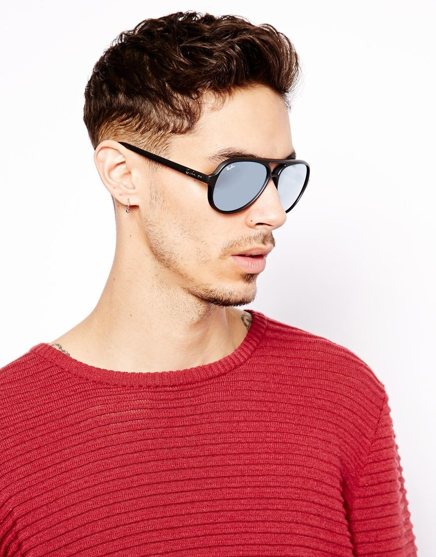 90f5a67a8 ... low cost lyst ray ban cats 5000 aviator sunglasses in black for men  2104e 2d56b