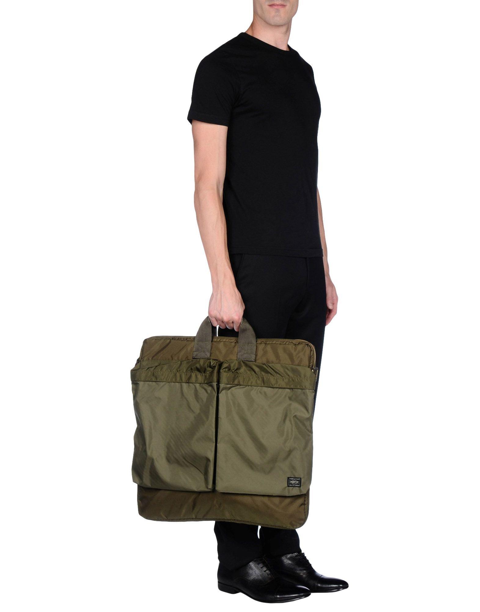 Lyst porter handbag in green for men for Men a porter