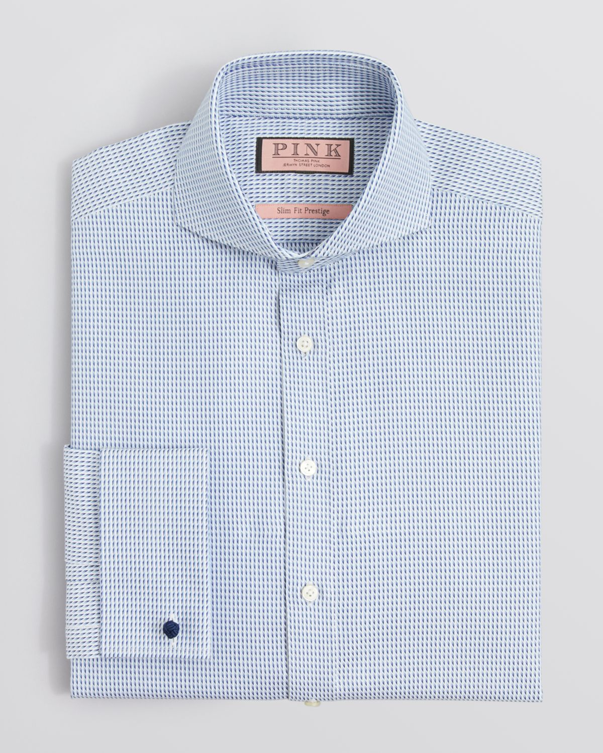 Thomas pink Jeremy Texture Dress Shirt - Regular Fit in Blue for ...